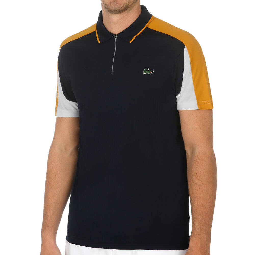 Ribbed Collar Polo Hommes