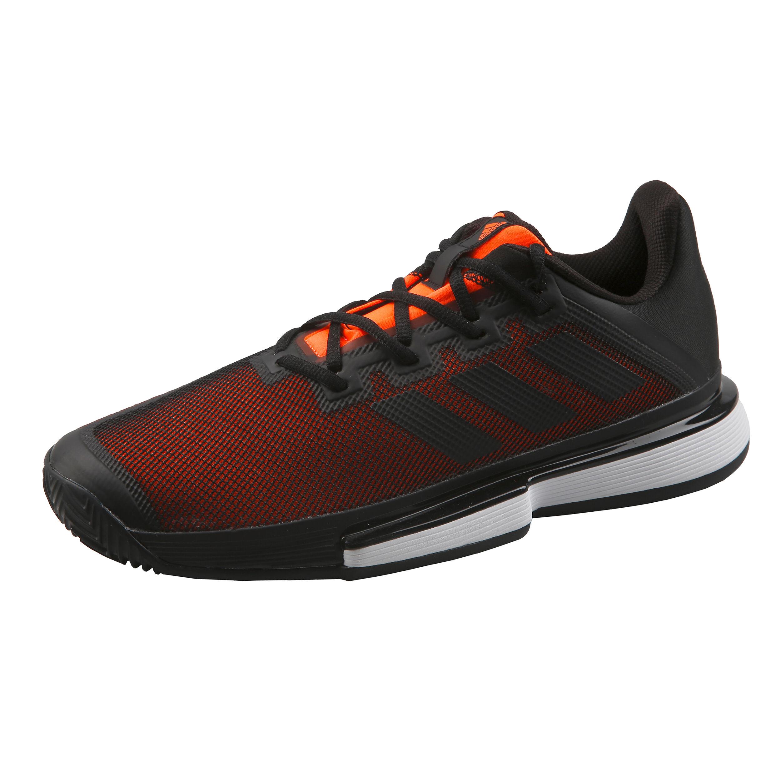 Adidas SoleMatch Bounce Clay Chaussure tennis Homme Noir et orange