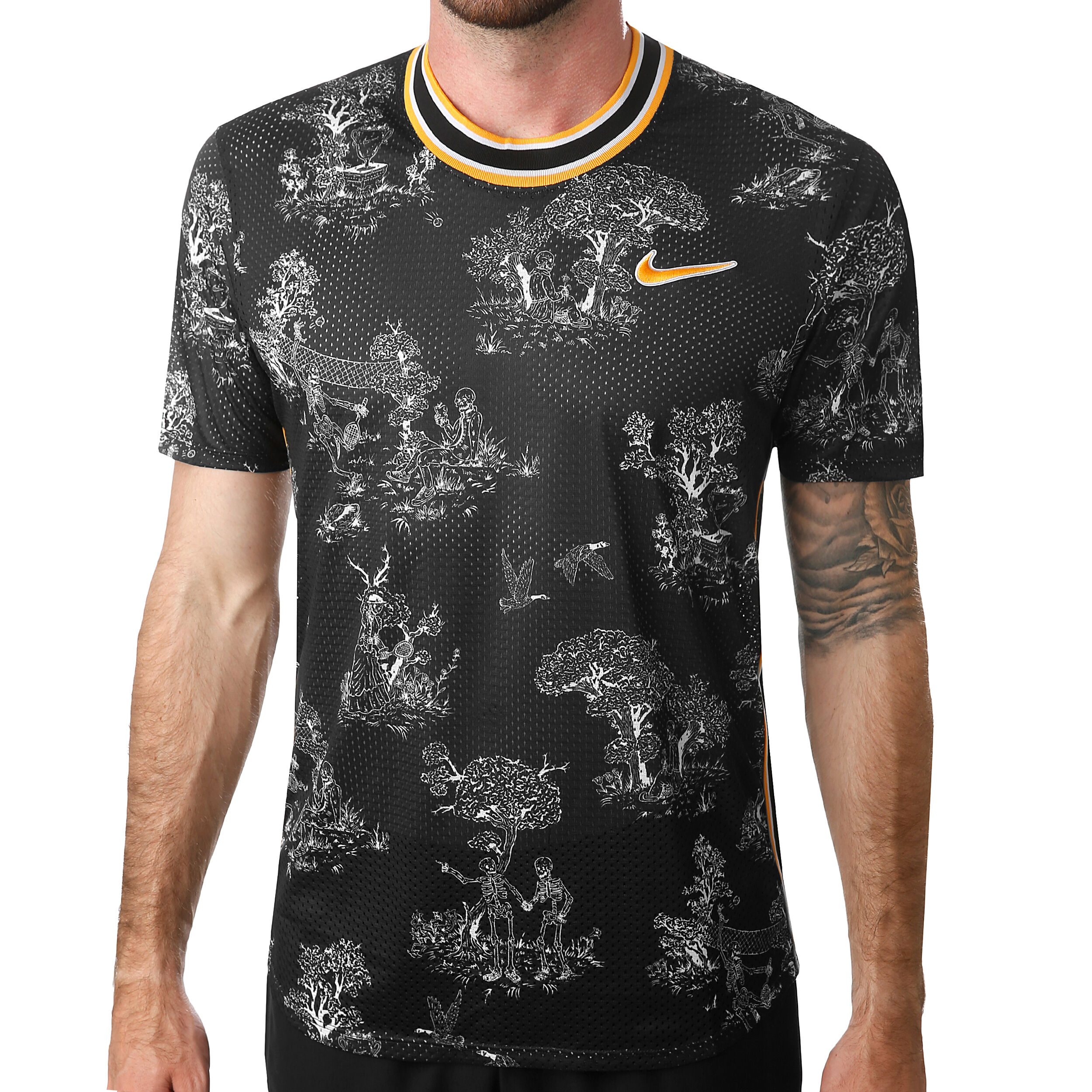 Nike Court Challenger Dri Fit T shirt Hommes Noir , Blanc