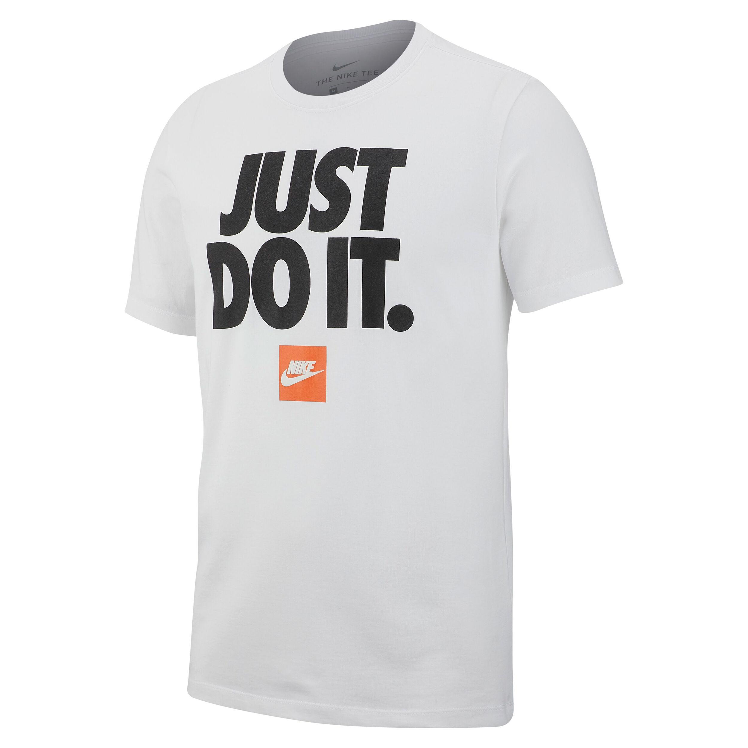 Nike Sportswear Just Do It T shirt Hommes Blanc , Noir