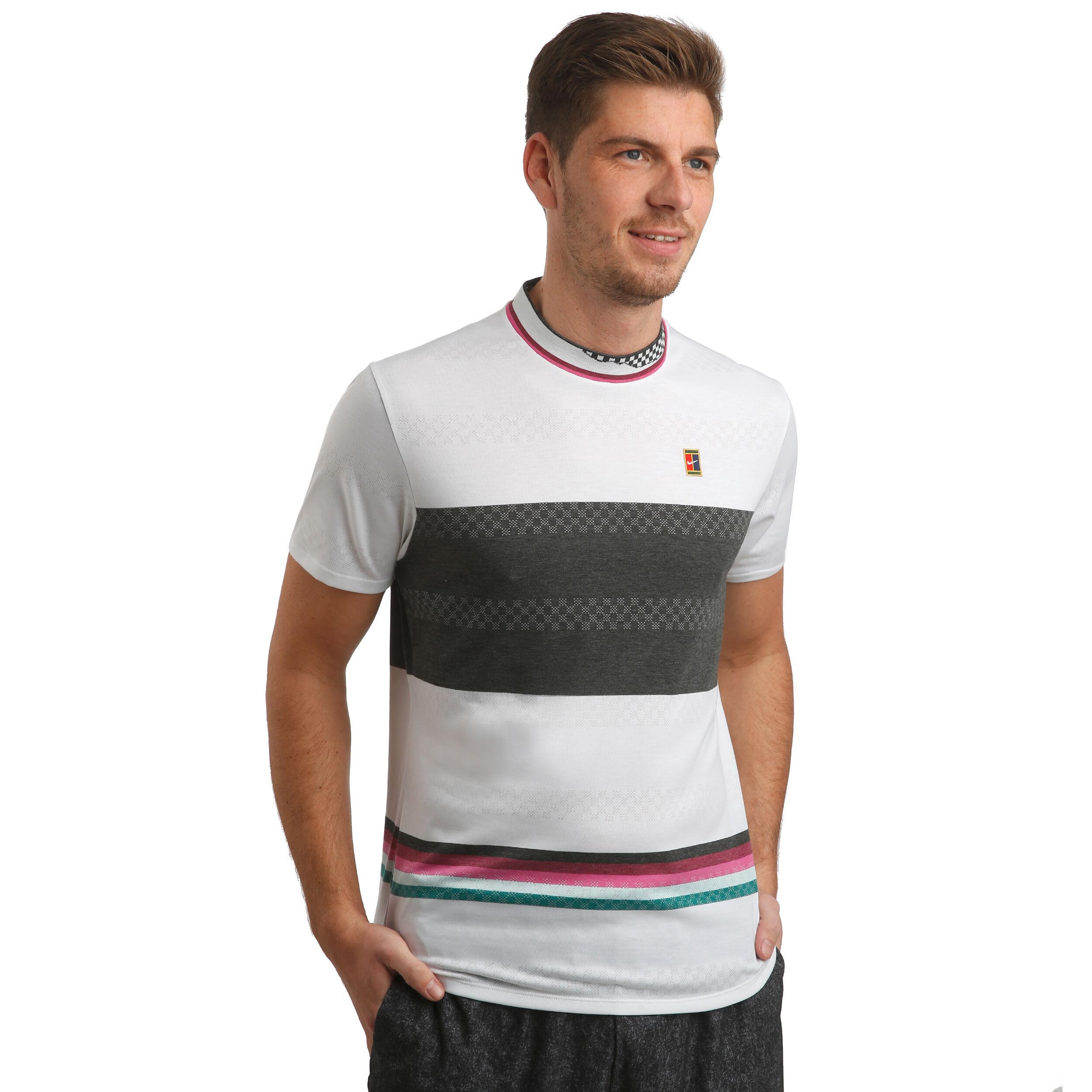Nike Court Challenger T shirt Hommes Blanc , Noir acheter