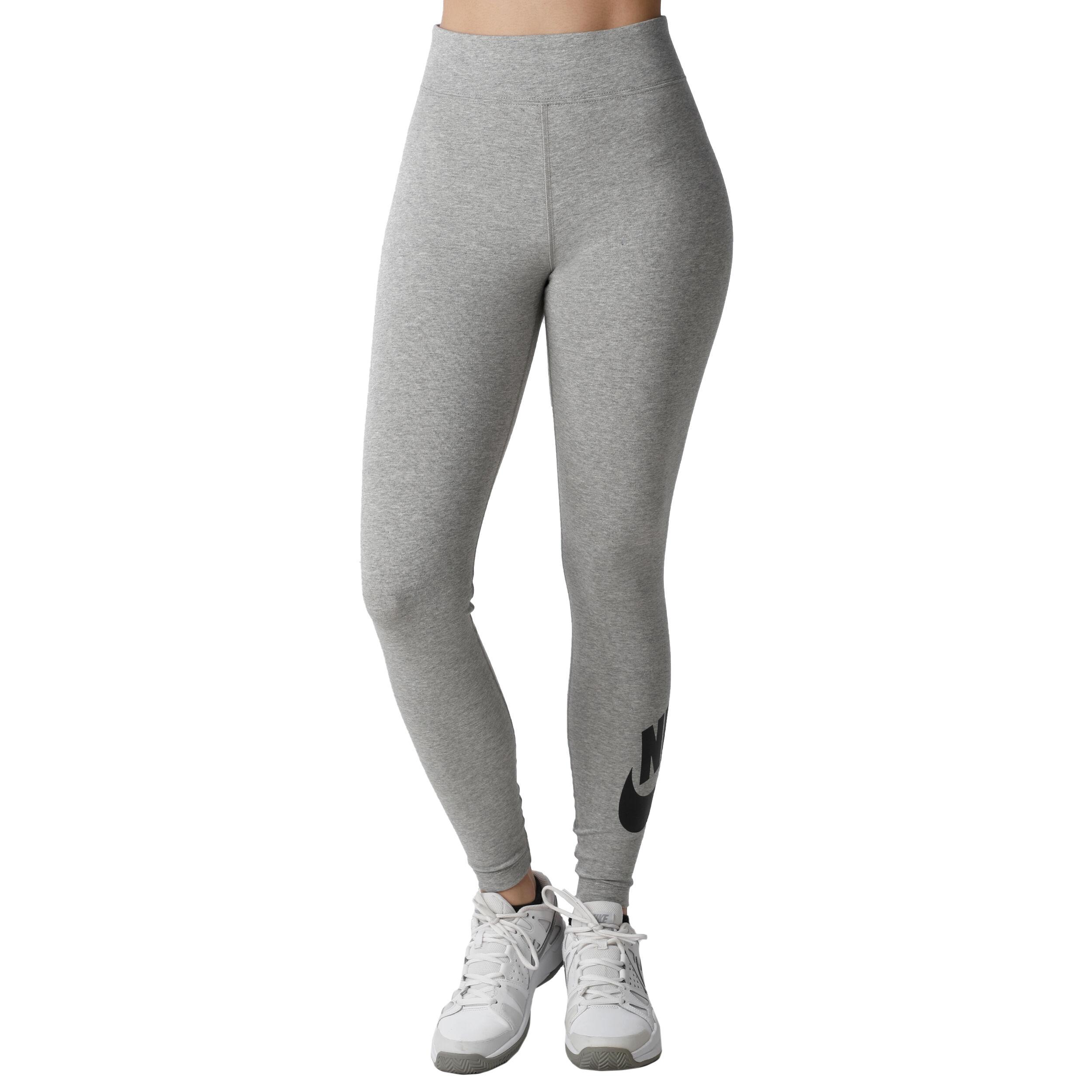Sportswear Leg A See High Waisted Collant Tight Femmes Gris Clair ,