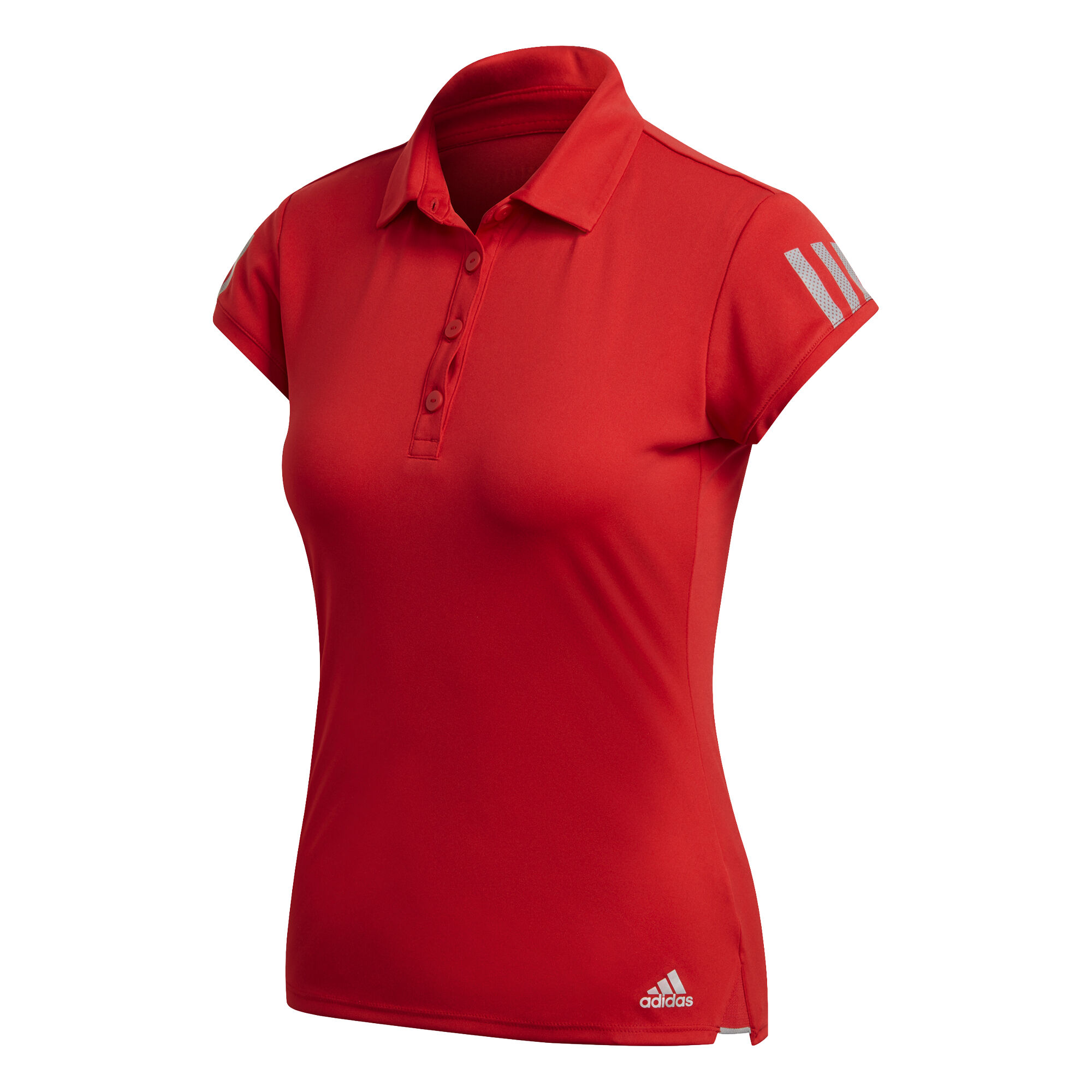 adidas Club 3 Stripes Polo Femmes Rouge , Gris