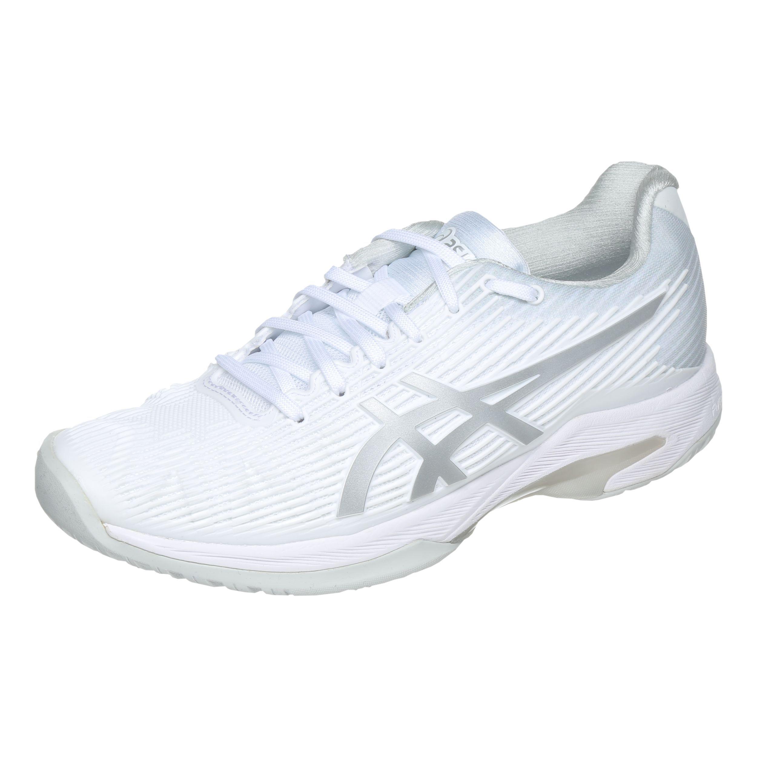 Asics Solution Speed FF Chaussure Tout Terrain Femmes Blanc , Gris Clair