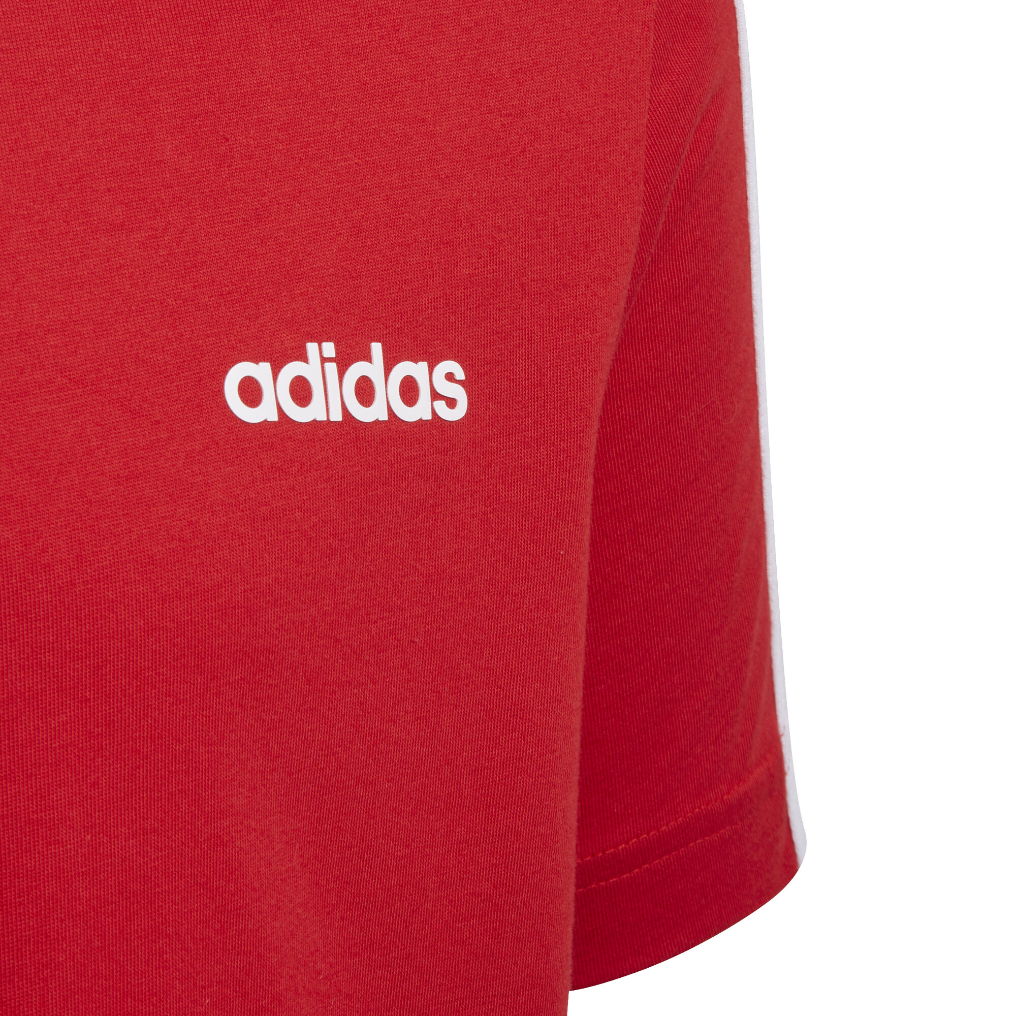 adidas Essentials 3 Stripes T shirt Garçons Rouge , Blanc