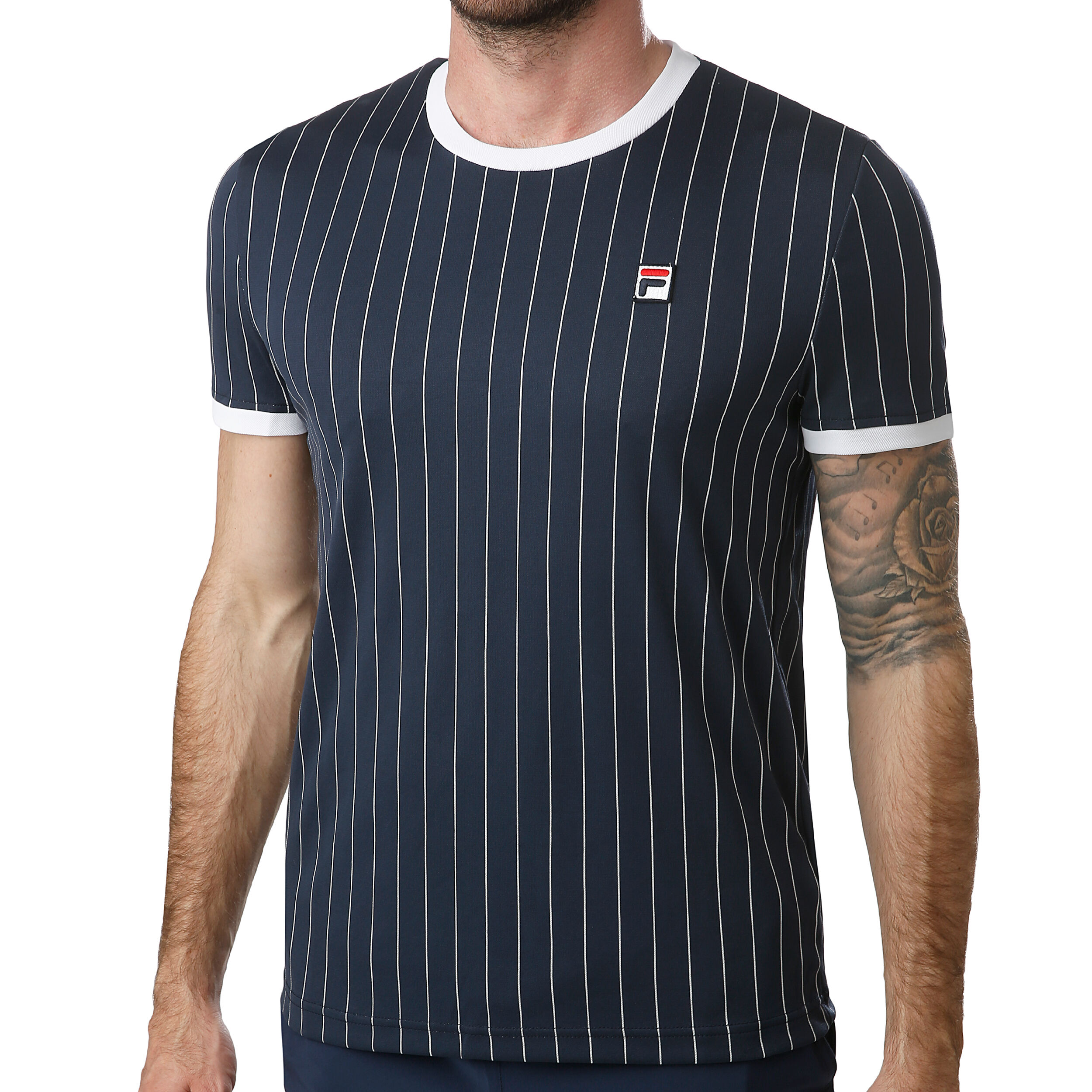Tee Shirt Fila Stripes Bleu Marine : Achat Tee Shirt de