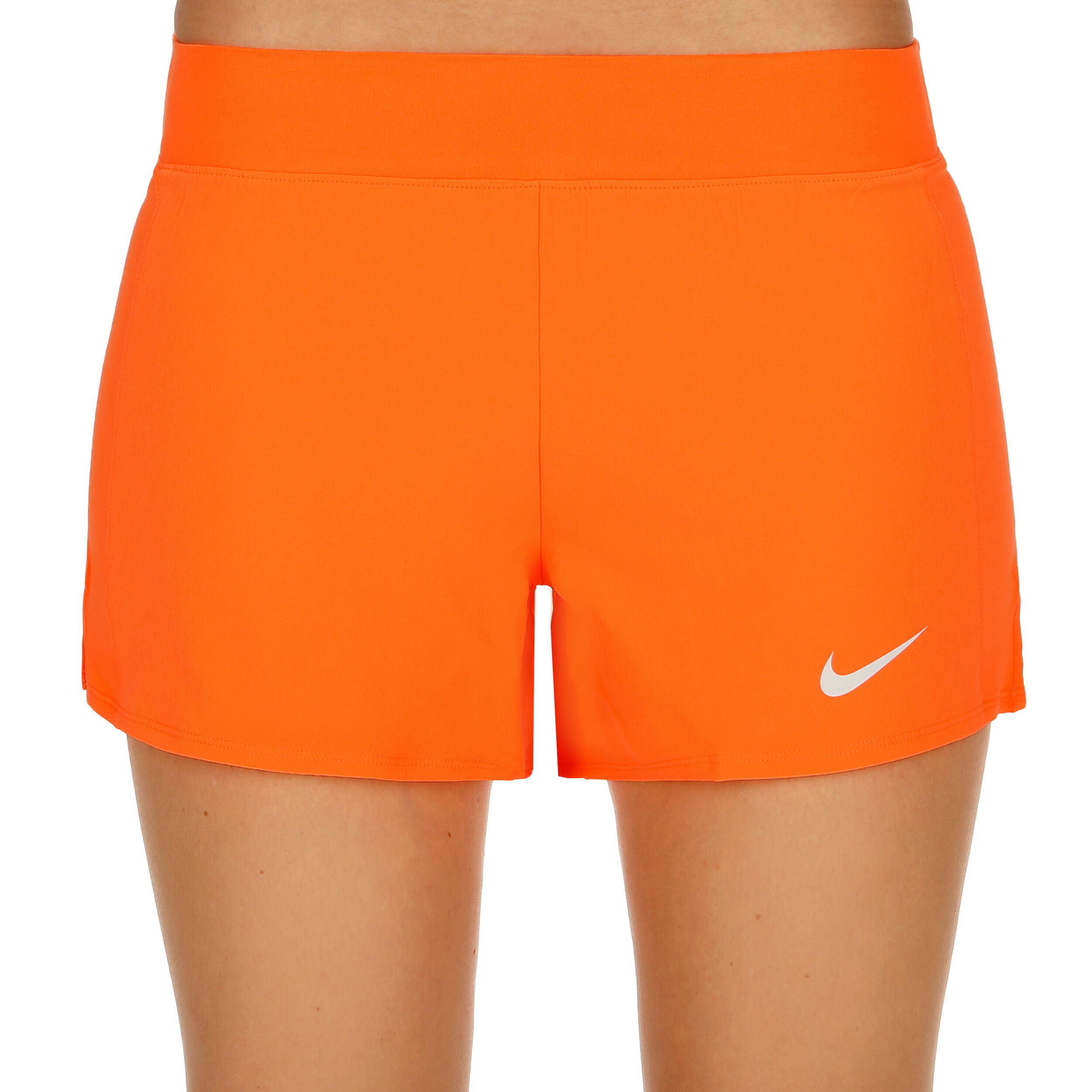 Nike Court Flex Pure Shorts Femmes Orange , Blanc acheter