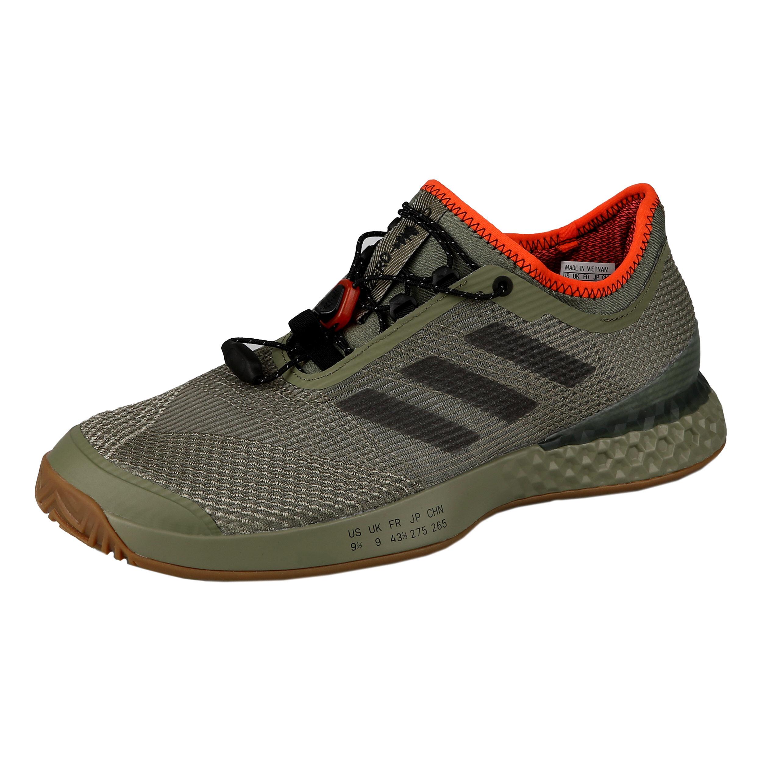 Chaussures Homme Adidas Adizero Ubersonic 3 Kaki 2019 Toutes surfaces