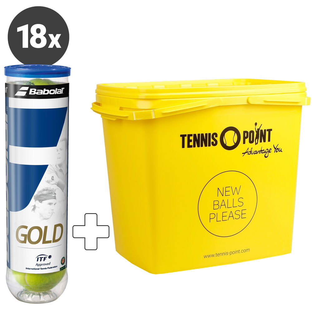 Gold Pet 18 Tubes De 4 + Seau À Balles