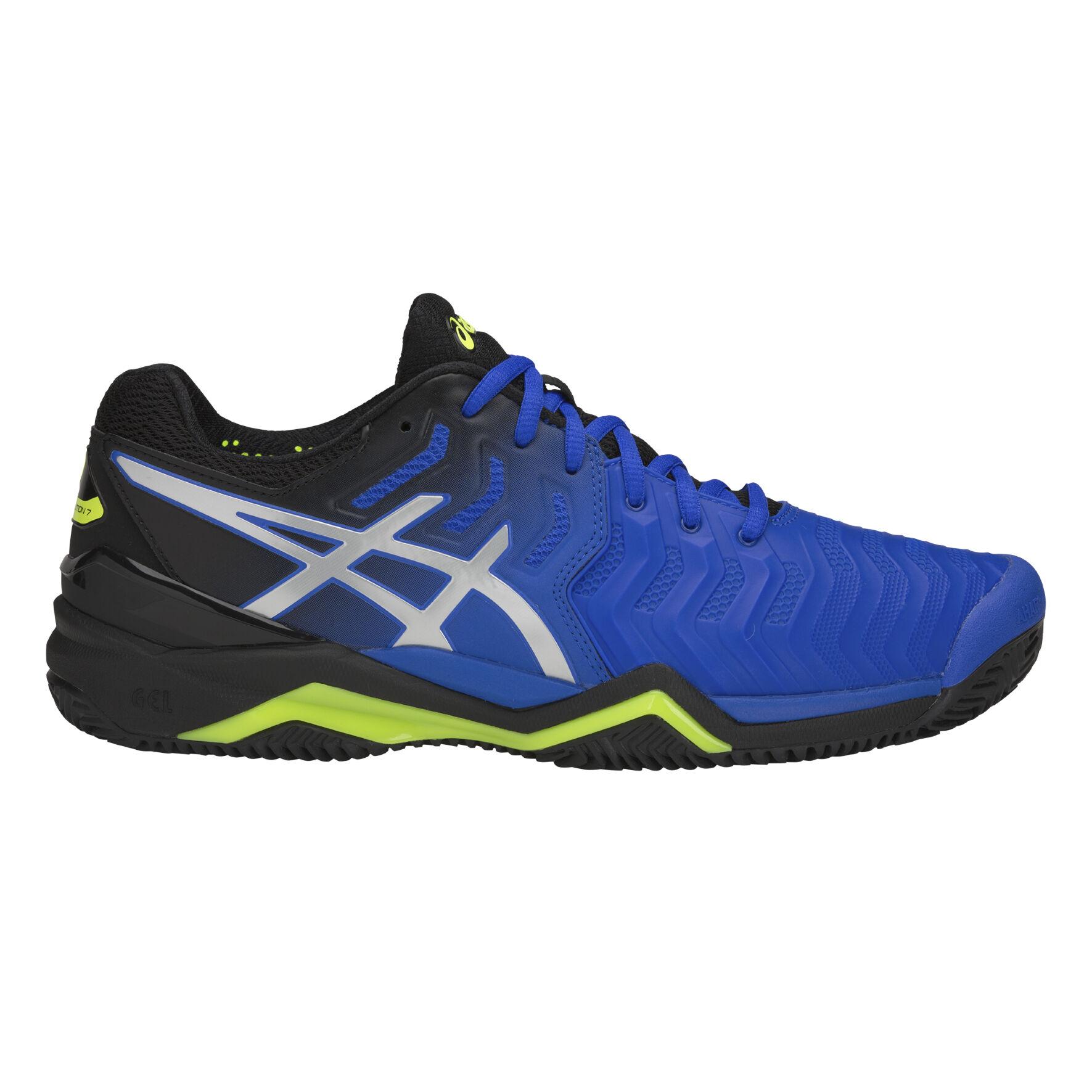 Asics Gel-Resolution 7 Clay Chaussure Terre Battue Hommes - Bleu ...