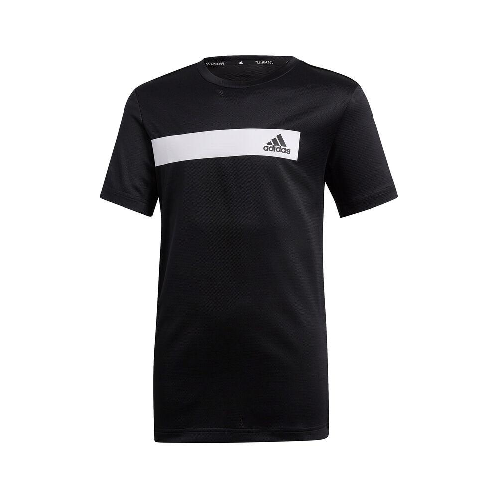 adidas Training Cool T-shirt Garçons - Noir , Blanc
