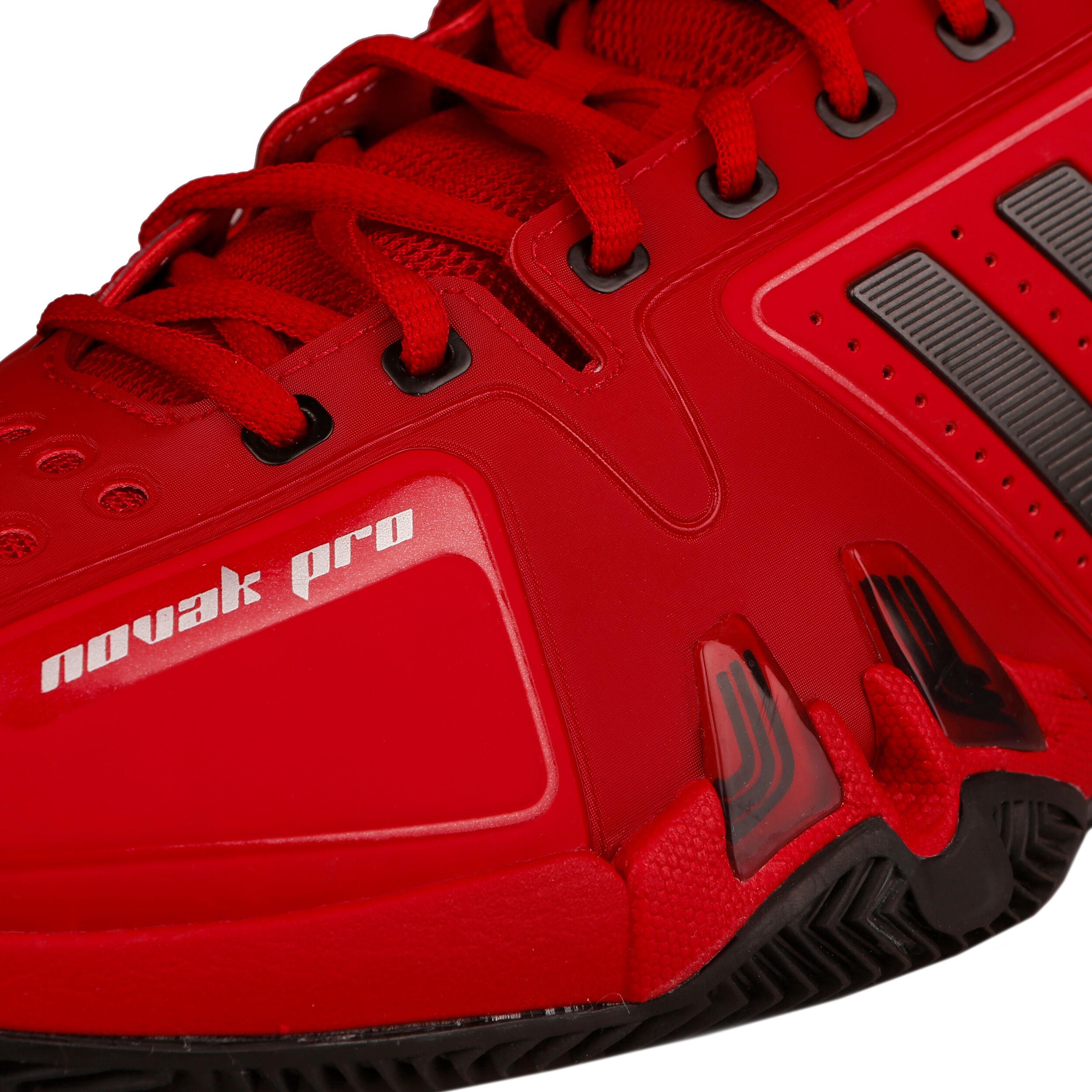 adidas Novak Pro Chaussure Terre Battue Hommes Rouge