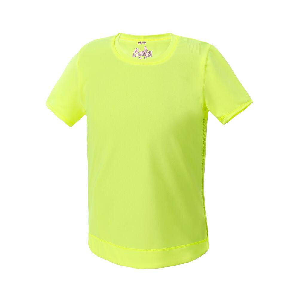 Lucky in Love Dynamik High-Low T-shirt Filles - Jaune