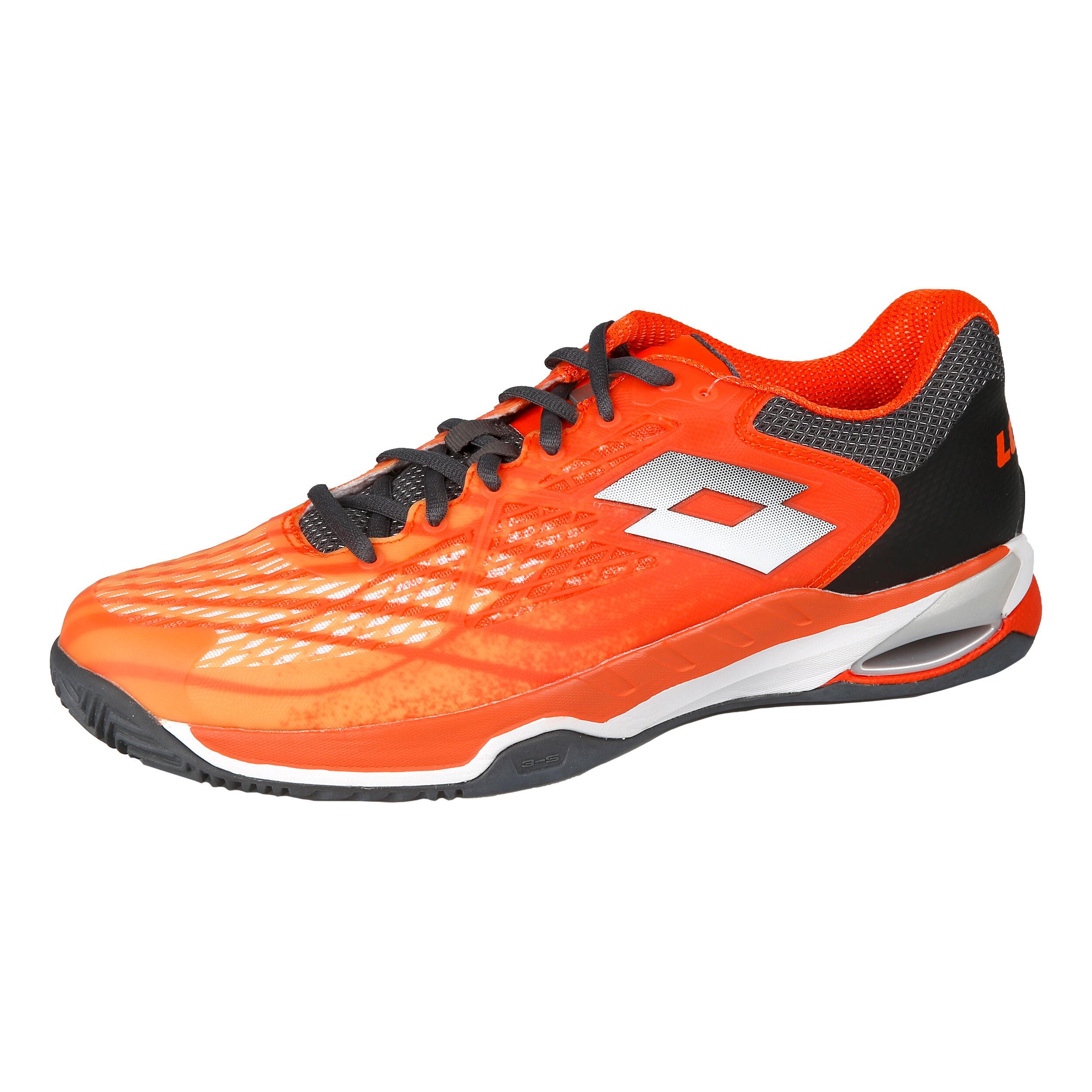 Lotto Hommes Mirage 100 Clay Chaussures De Tennis Chaussure Terre Battue Orange Gris 44