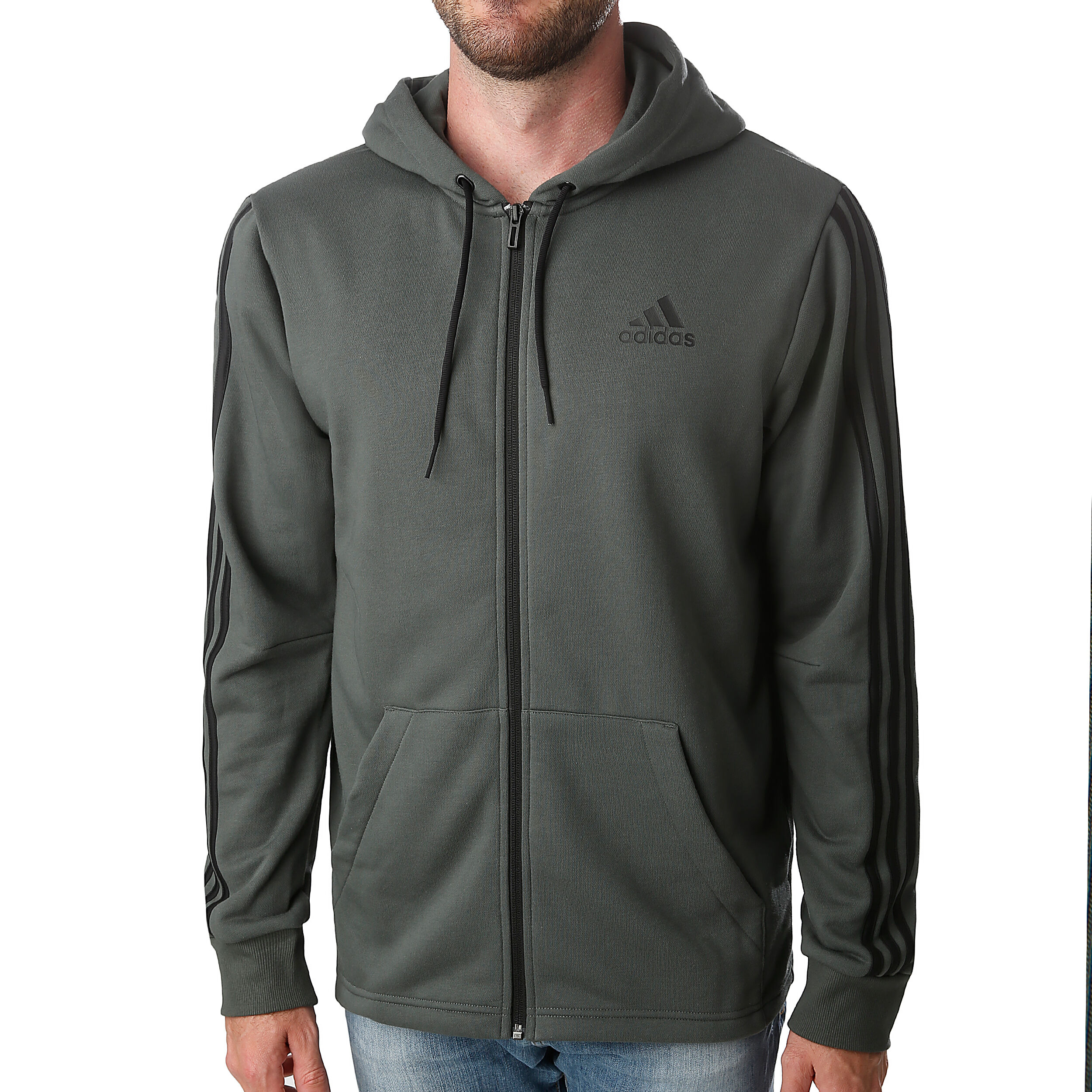 adidas Must Have 3 Stripes French Terry Full Zip Veste De
