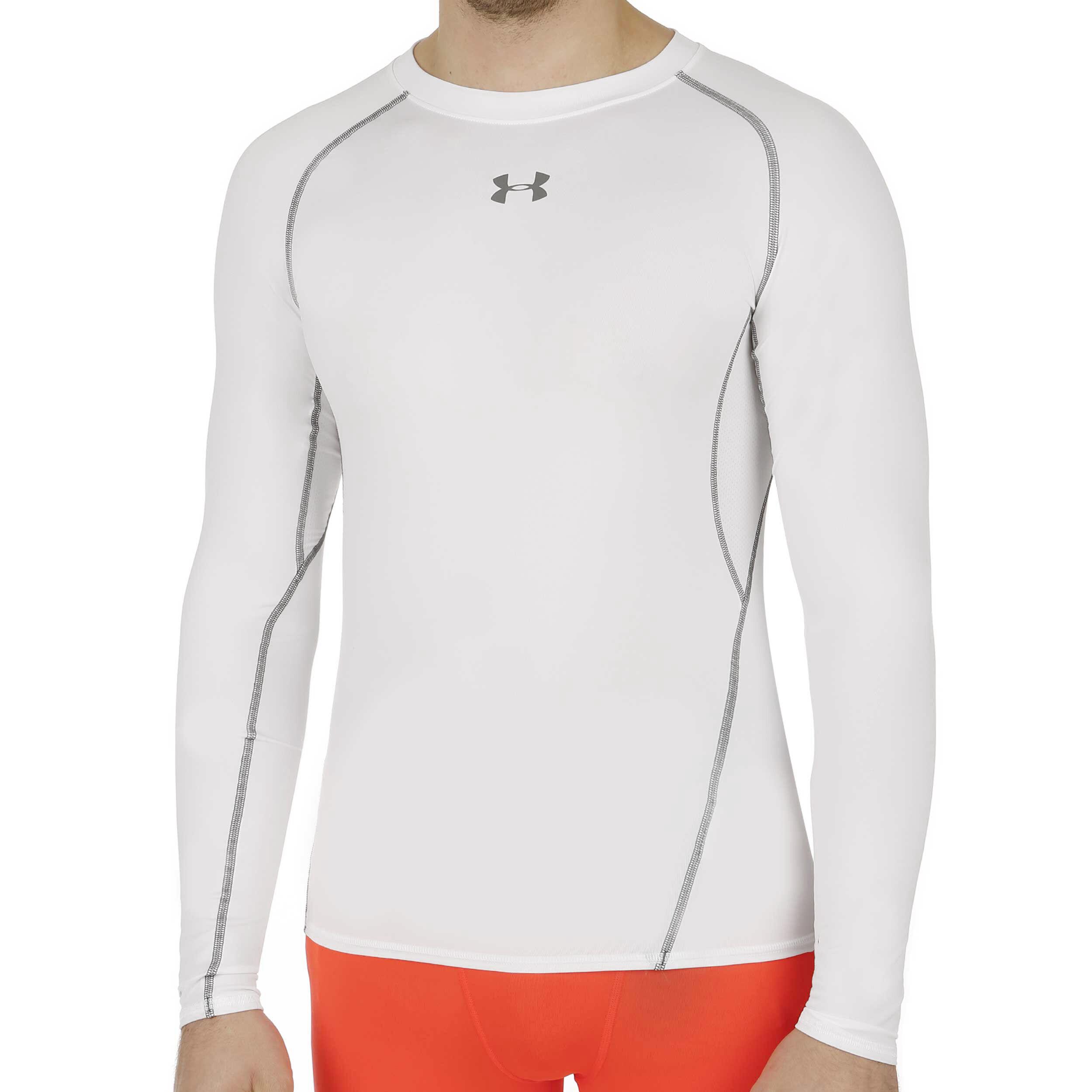 Under Armour Mens Heatgear Armour Manches Longues Compression Shirt Sous-vêtement