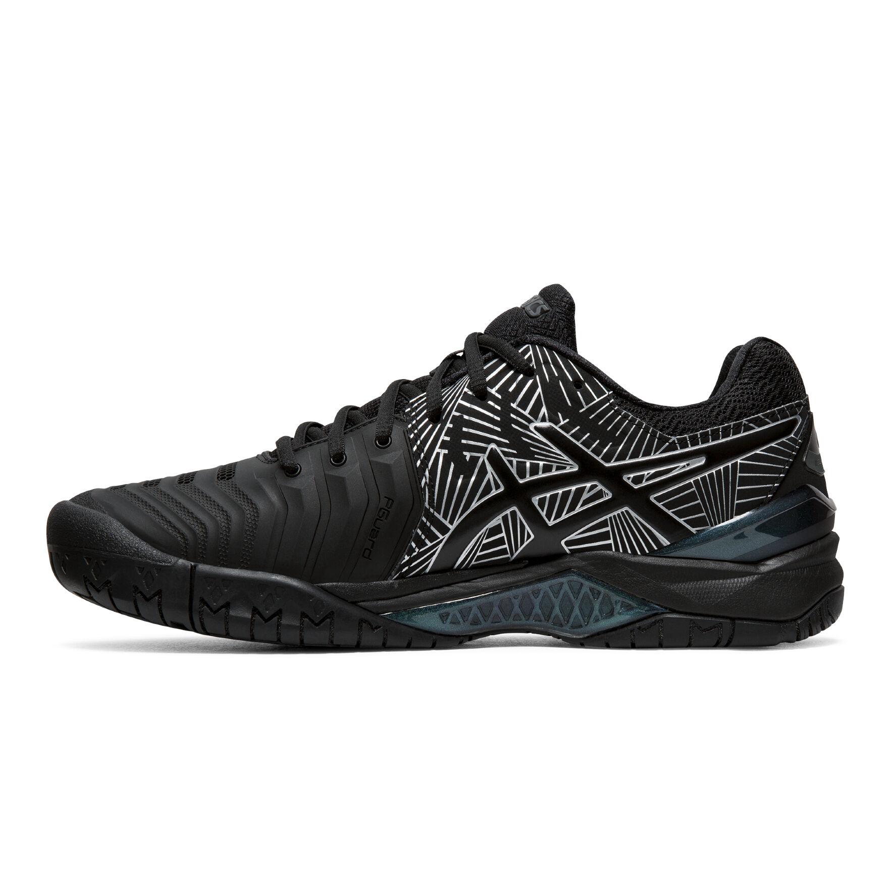Asics Gel-Resolution 7 Chaussures Toutes Surfaces Hommes - Noir ...