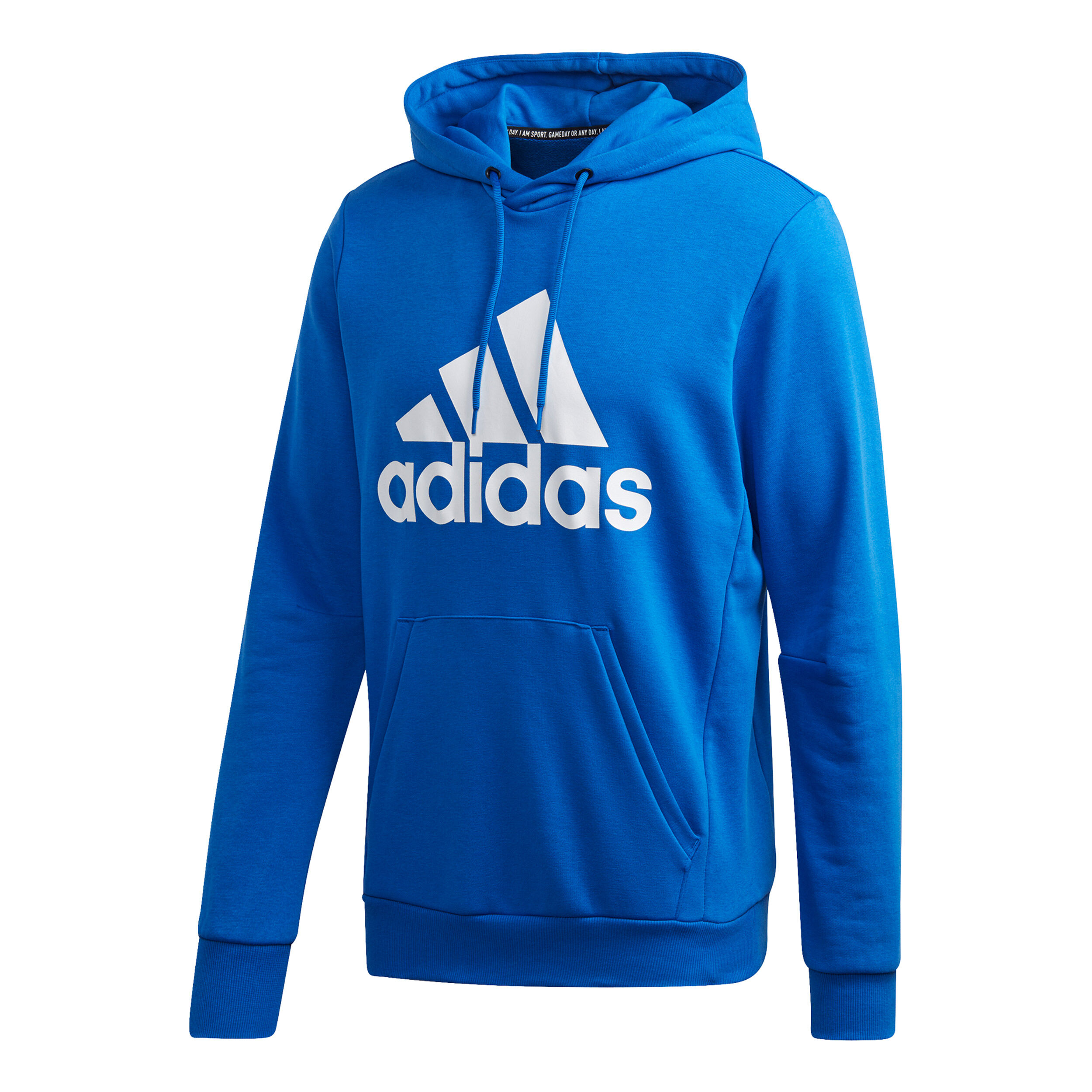 adidas Must Have Badge Of Sports Sweat À Capuche Hommes Bleu , Blanc