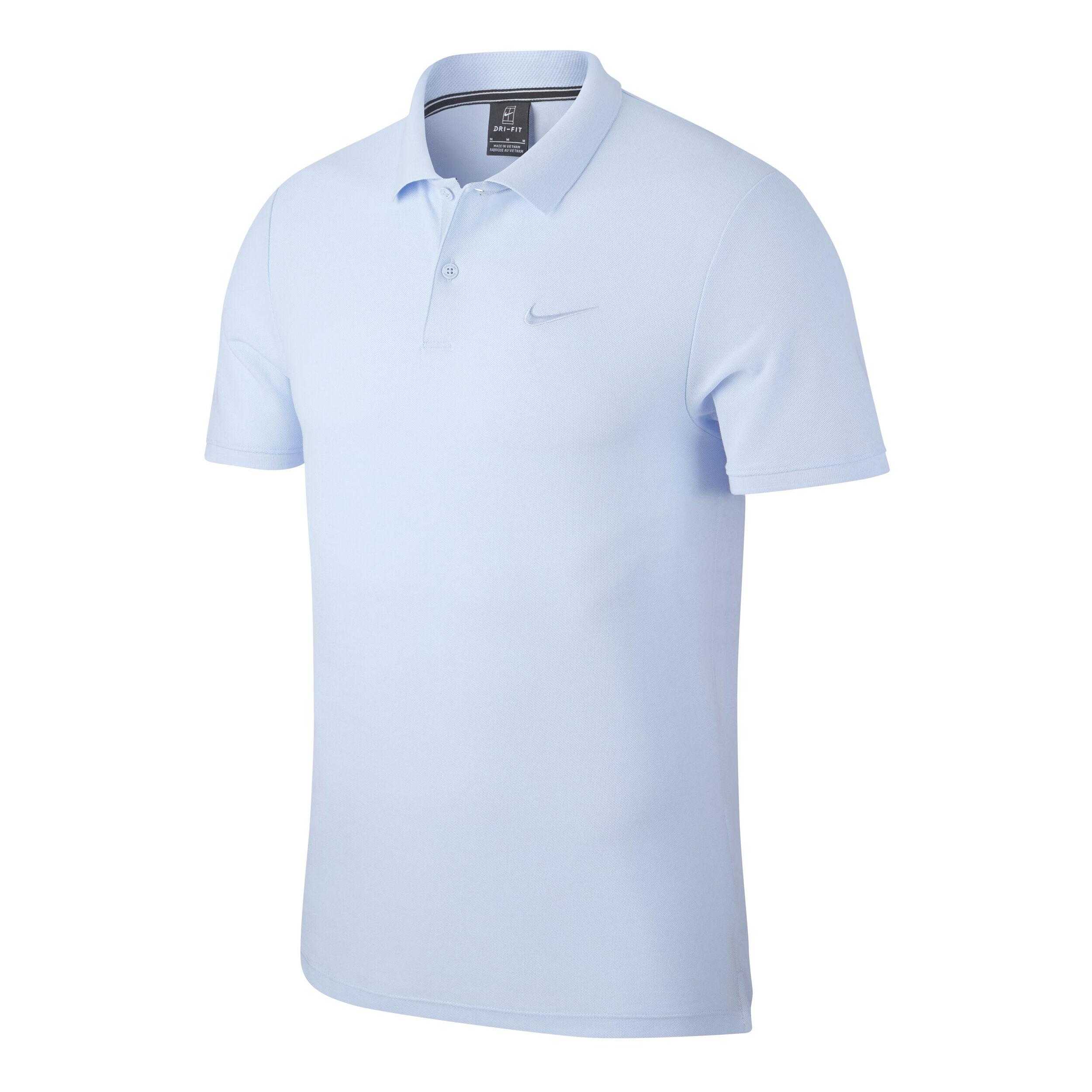 Nike Court Advanced Essential Polo Hommes Bleu Clair , Blanc