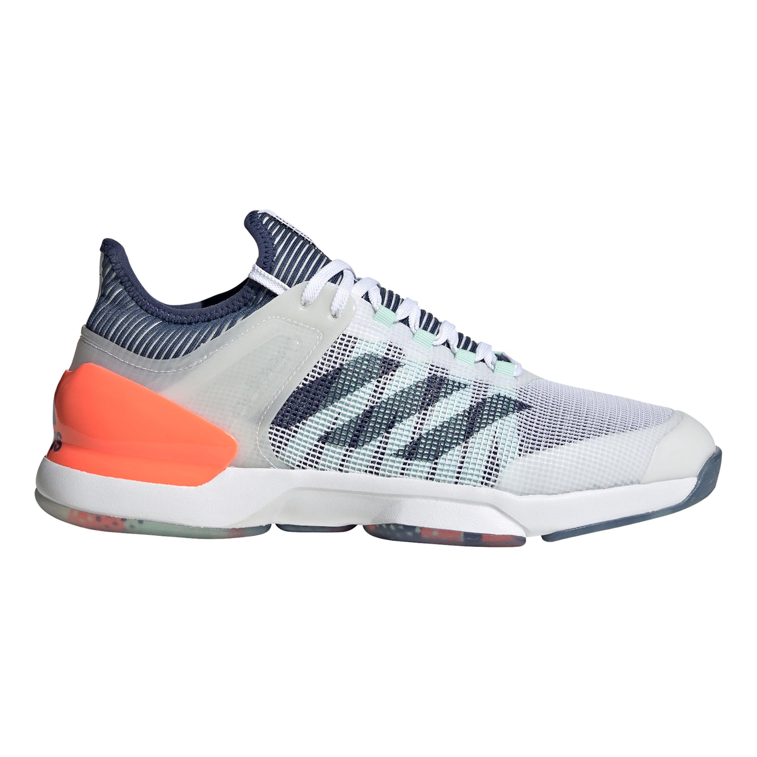 Adizero Ubersonic 2 Chaussures Toutes Surfaces Hommes Blanc , Bleu F