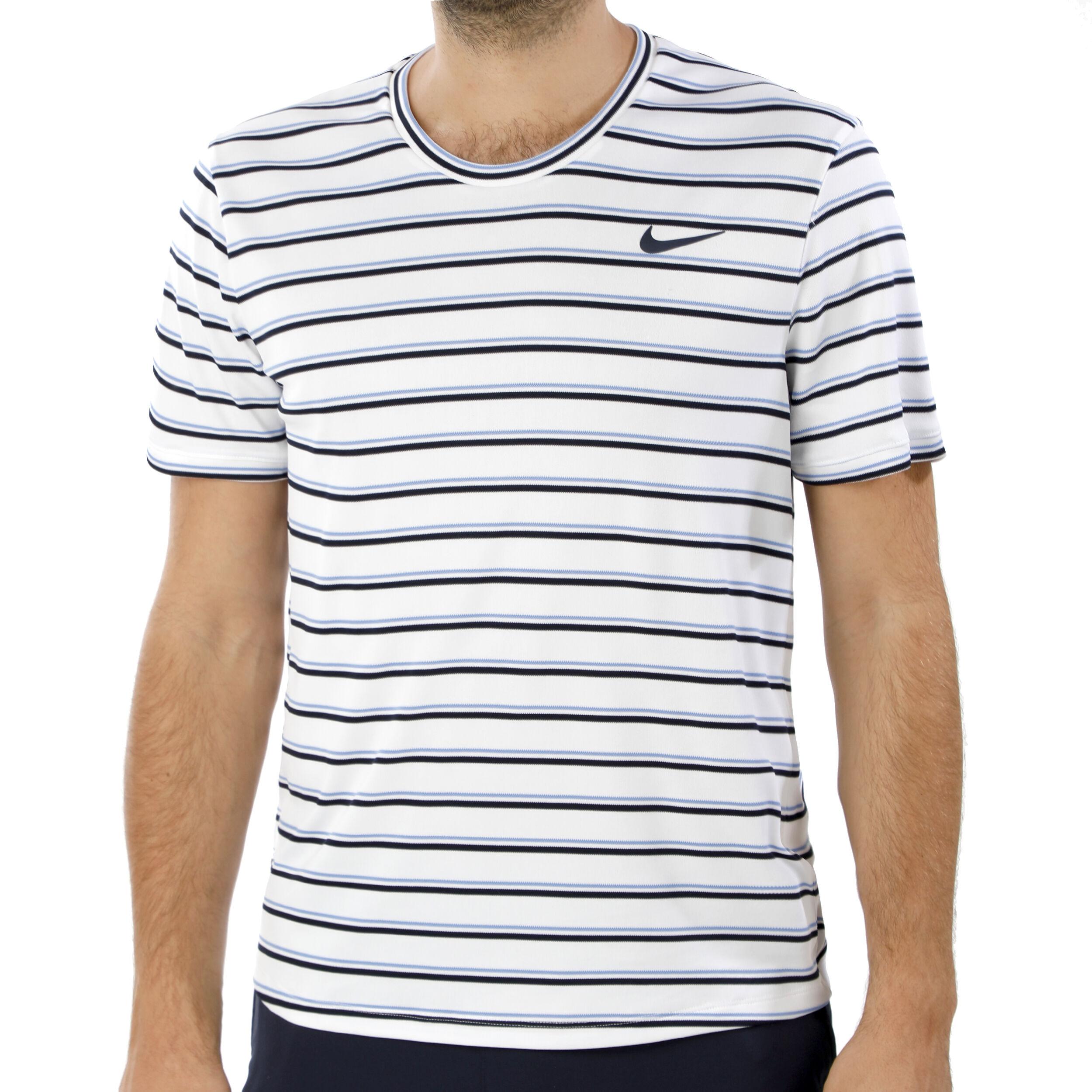 Nike Court Dry Team T shirt Hommes Blanc , Multicouleur