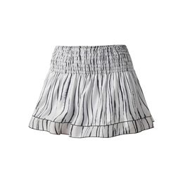Long Zebra Smocked Skirt