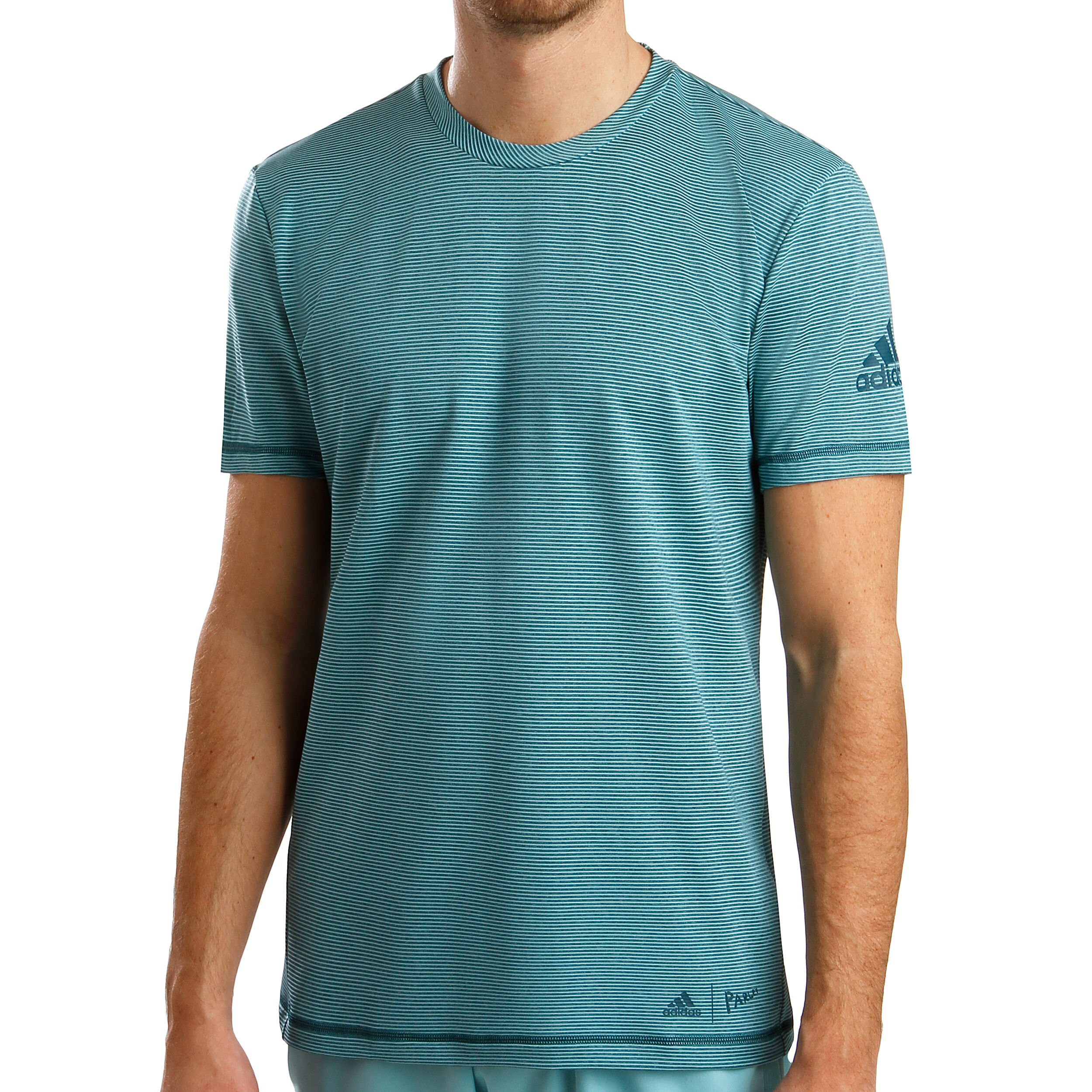 Striped Parley T Shirt Petrol Acheter Hommes MintBleu En Adidas 0mP8nNyvwO
