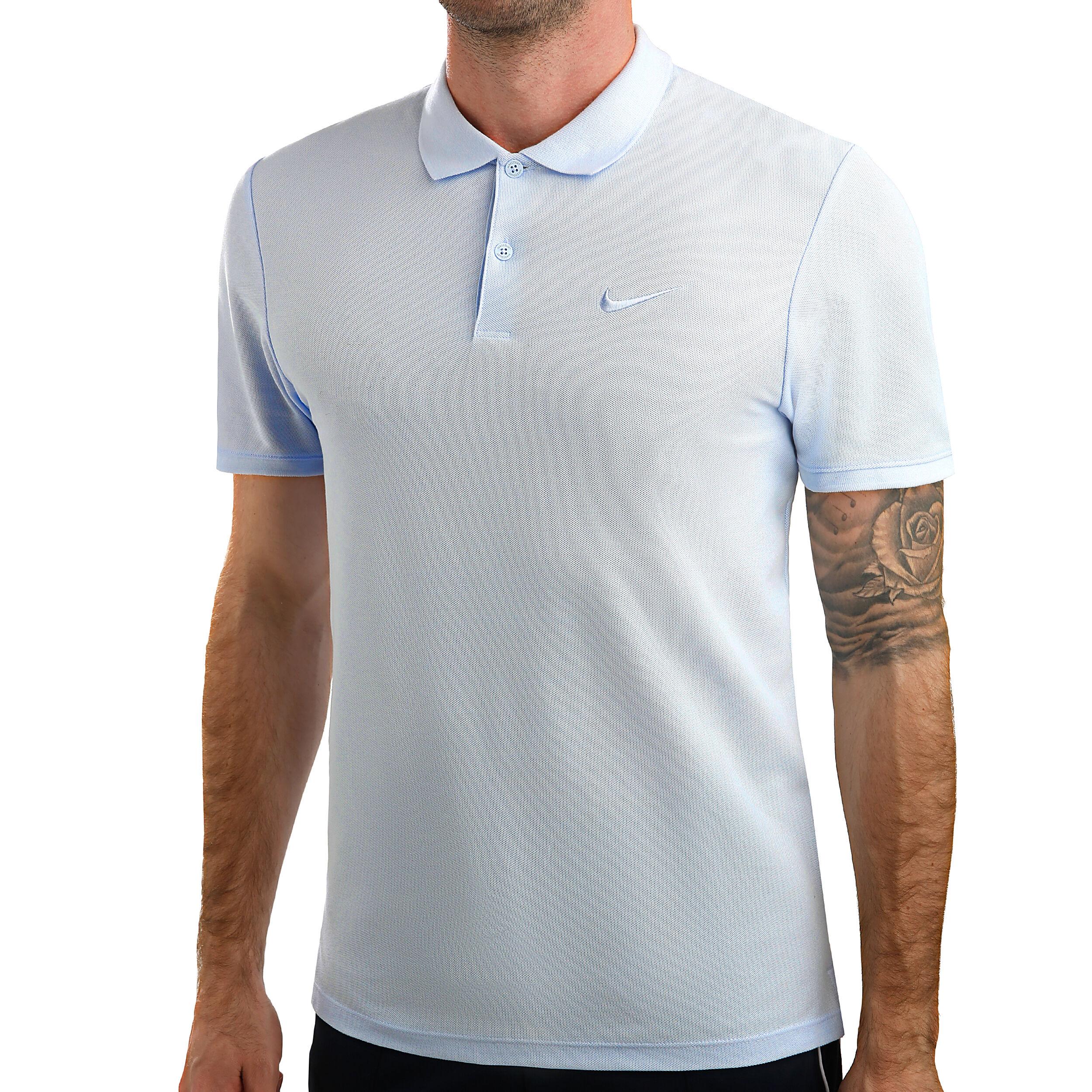 Nike Court Advanced Essential Polo Hommes Bleu Clair