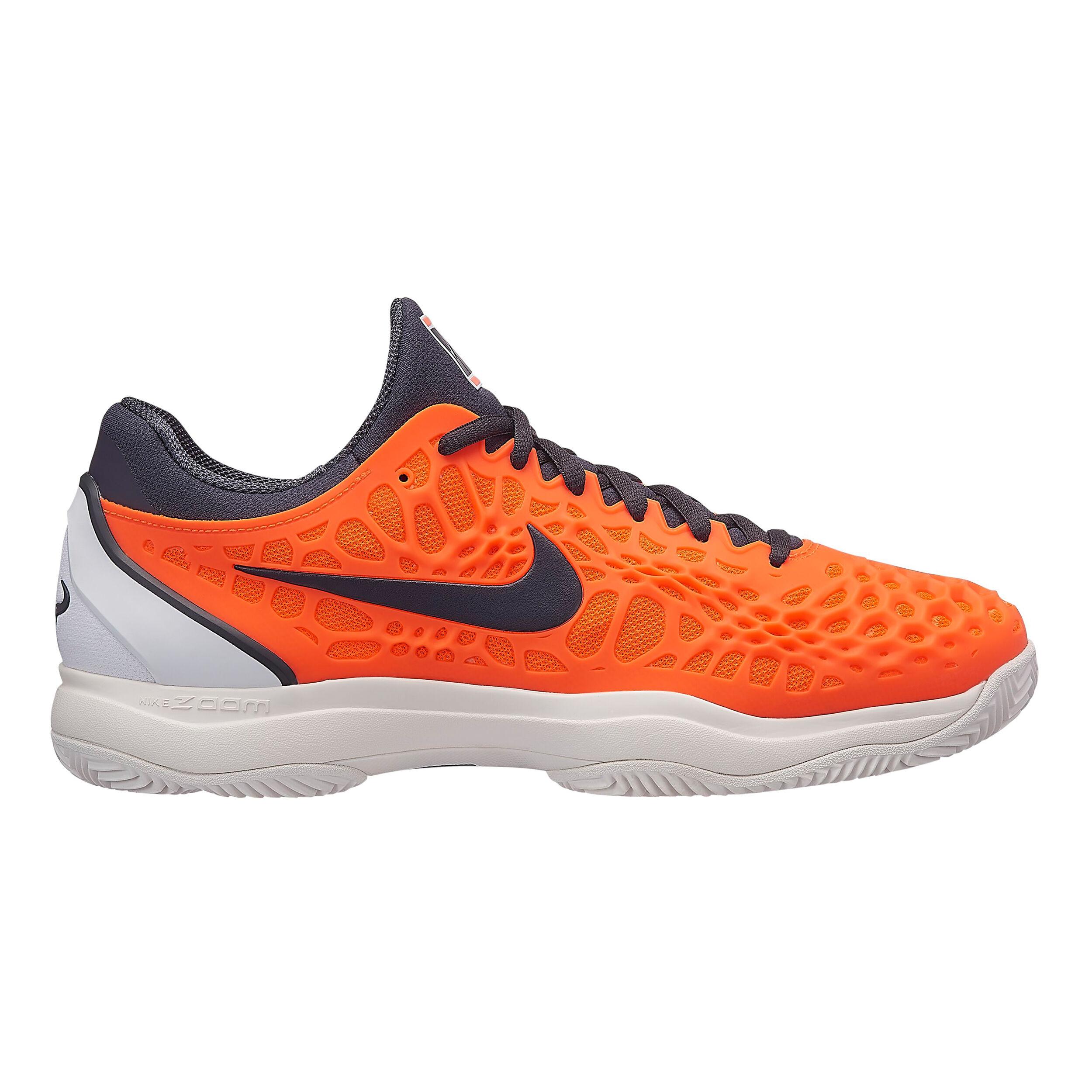 Nike Zoom Cage 3 Clay Chaussure Terre Battue Hommes Orange , Gris Foncé