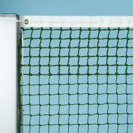 Tennisnetz, grün, 3 mm Polyäthylen, gefl. 5 Doppelreihen