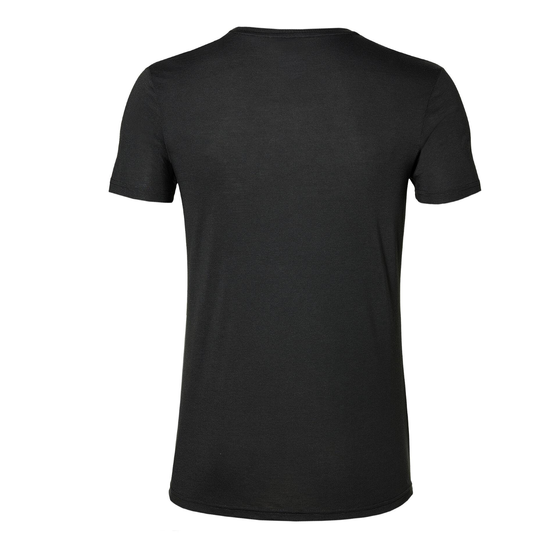 Asics Essential Diagonal T shirt Hommes Noir , Blanc