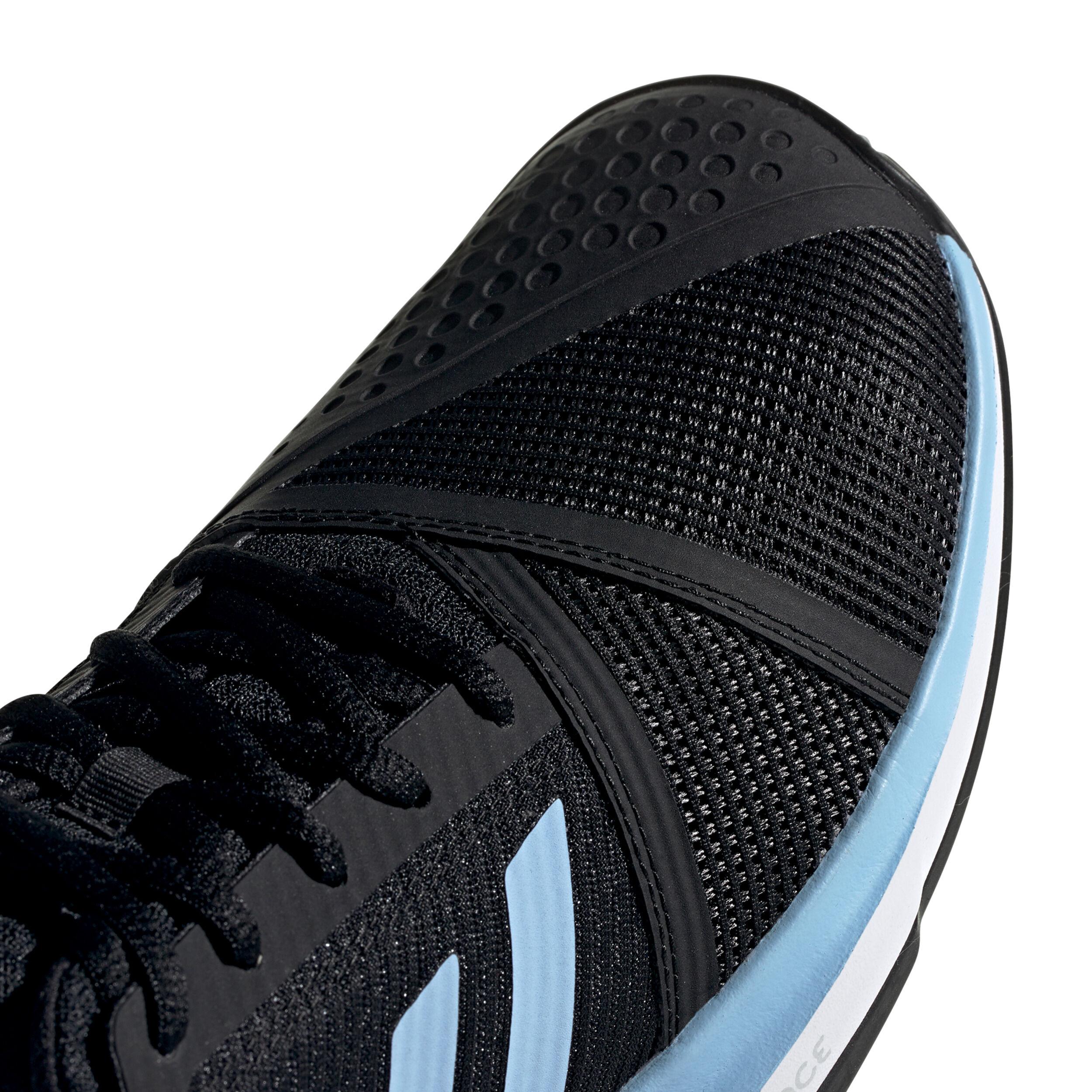 Chaussures Adidas Femme Courtjam Bounce Terre Battue Noires
