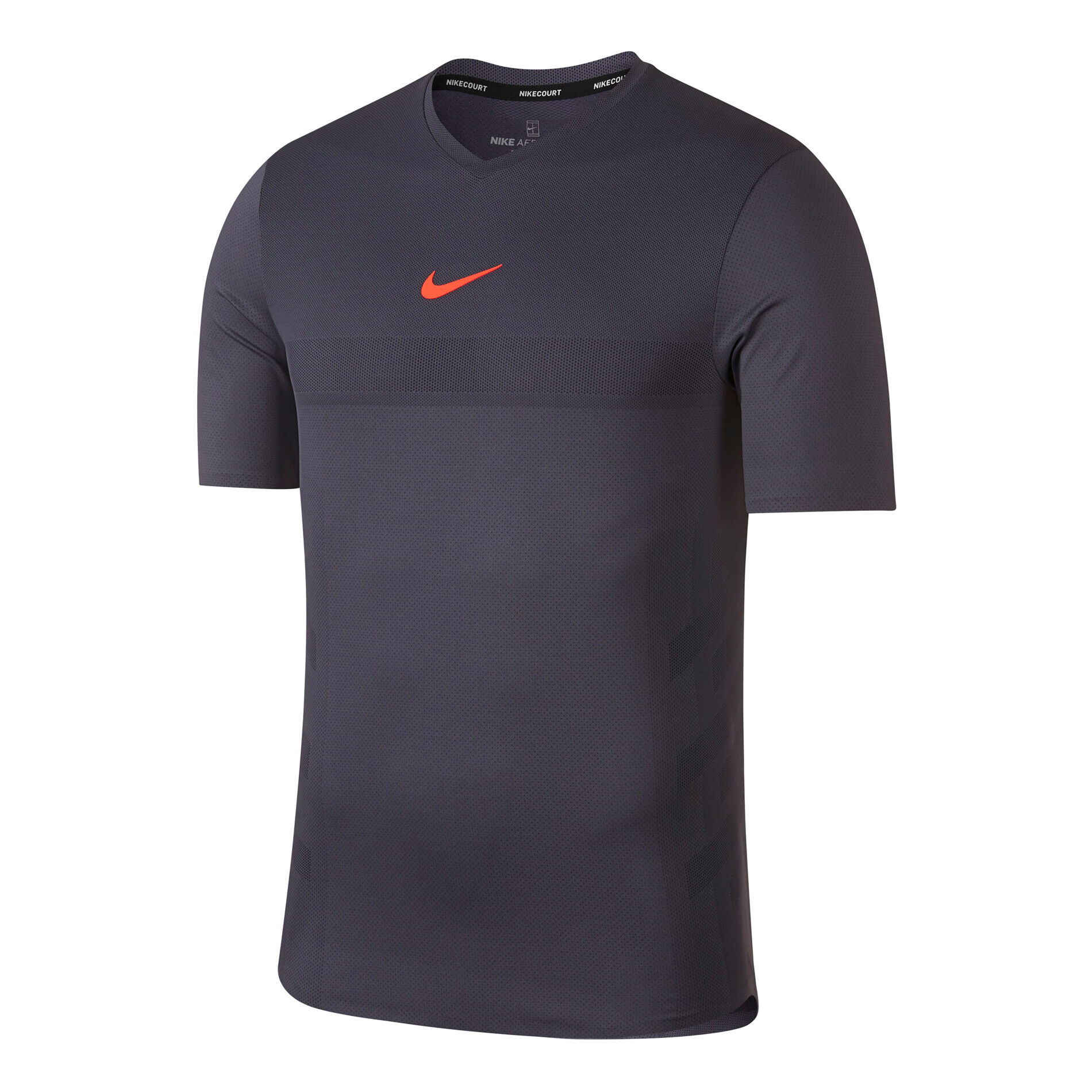 Nike Rafael Nadal Court AeroReact T shirt Hommes Gris