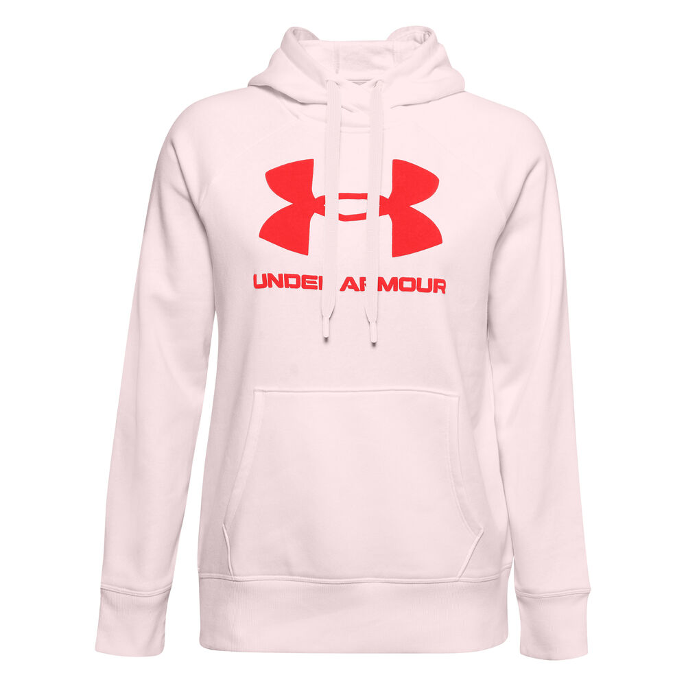 Under Armour Rival Logo Sweat À Capuche Femmes - Rosé, Rouge Clair