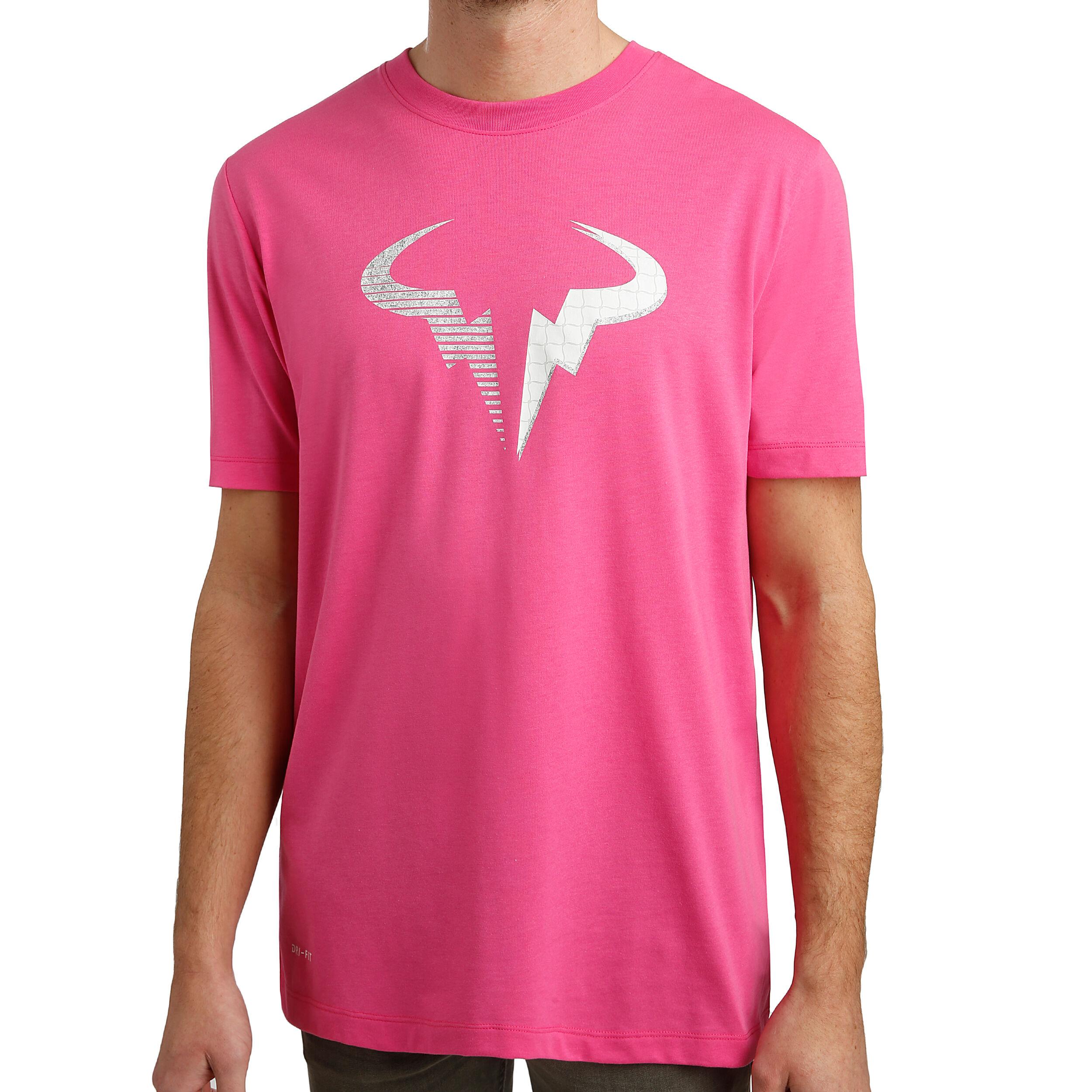 Nike Rafael Nadal Court Dri Fit T shirt Hommes Pink