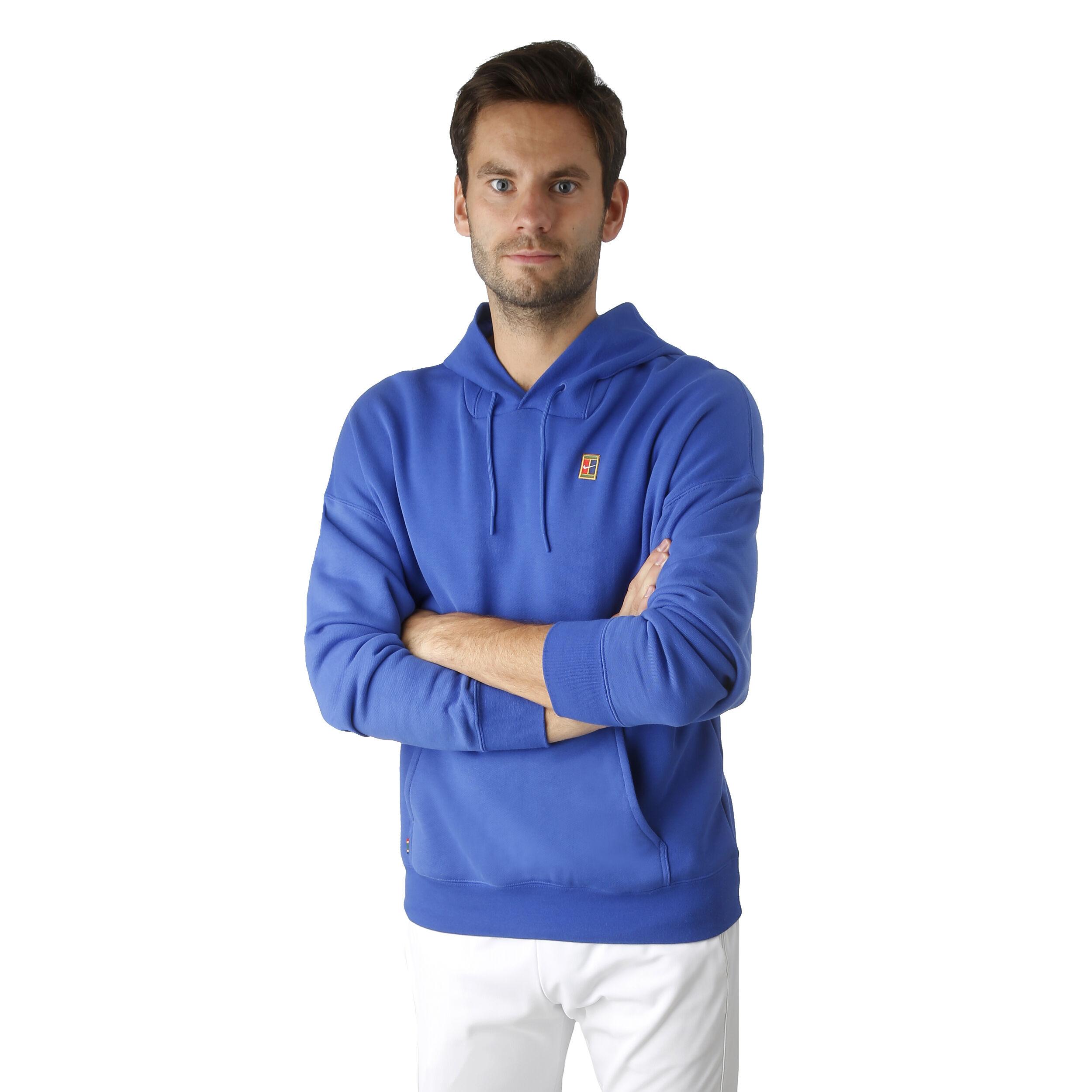 Nike Court Heritage Fleece Sweat À Capuche Hommes Bleu