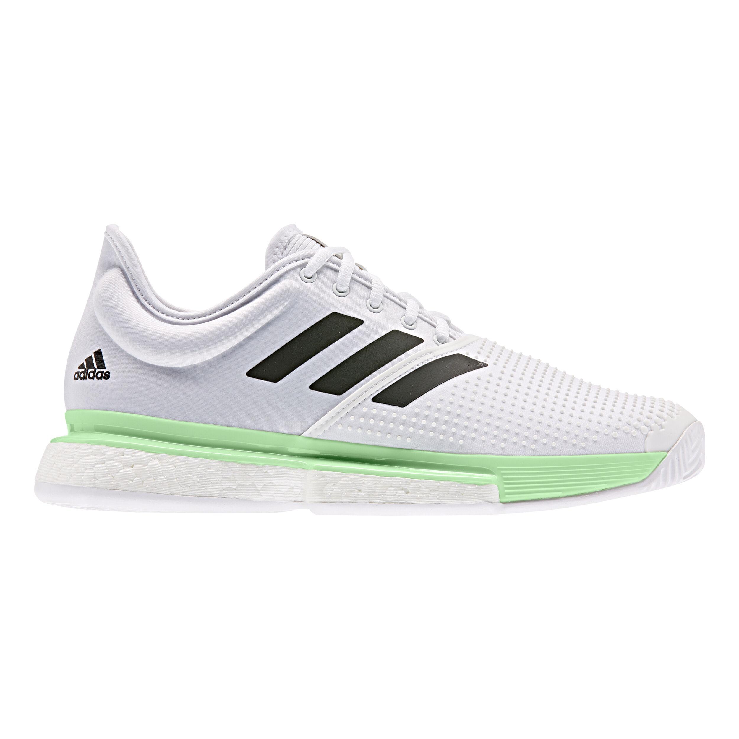 adidas Sole Court Boost Chaussure Tout Terrain Hommes Blanc , Vert Clair