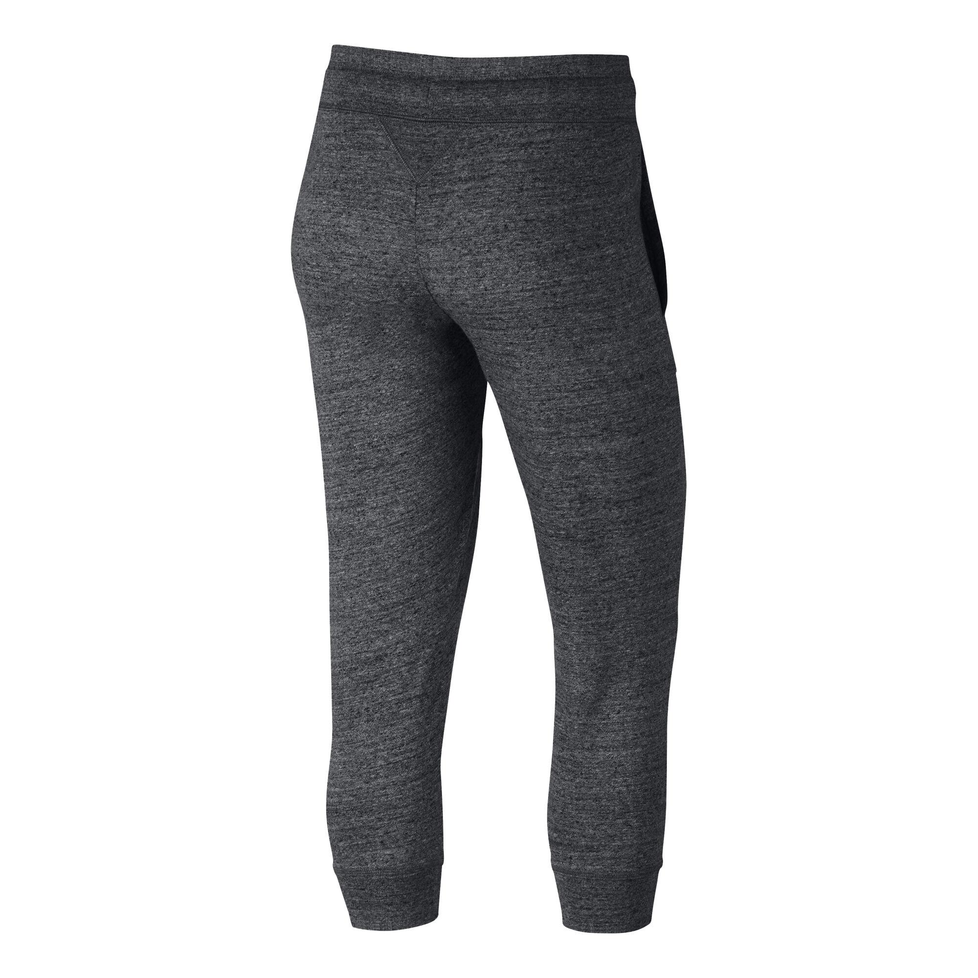 79691bb1005d13 Nike Sportswear Gym Vintage Pantacourt Femmes - Gris Foncé, Blanc ...