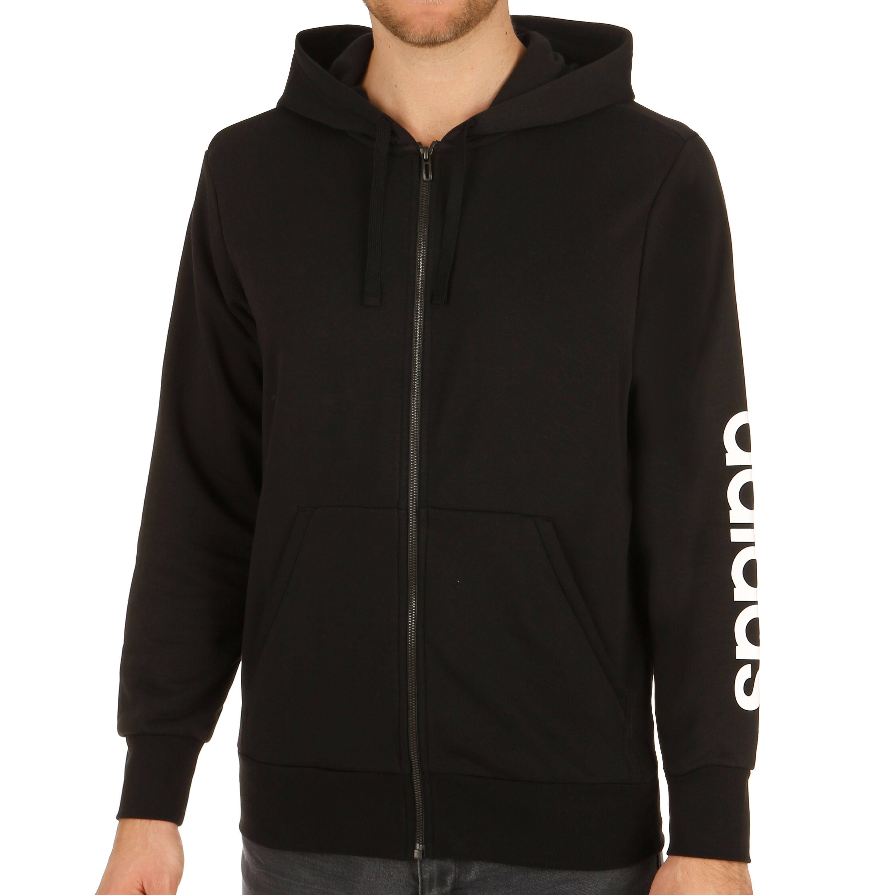 adidas Essentials Linear Hood French Terry Gilet En Coton