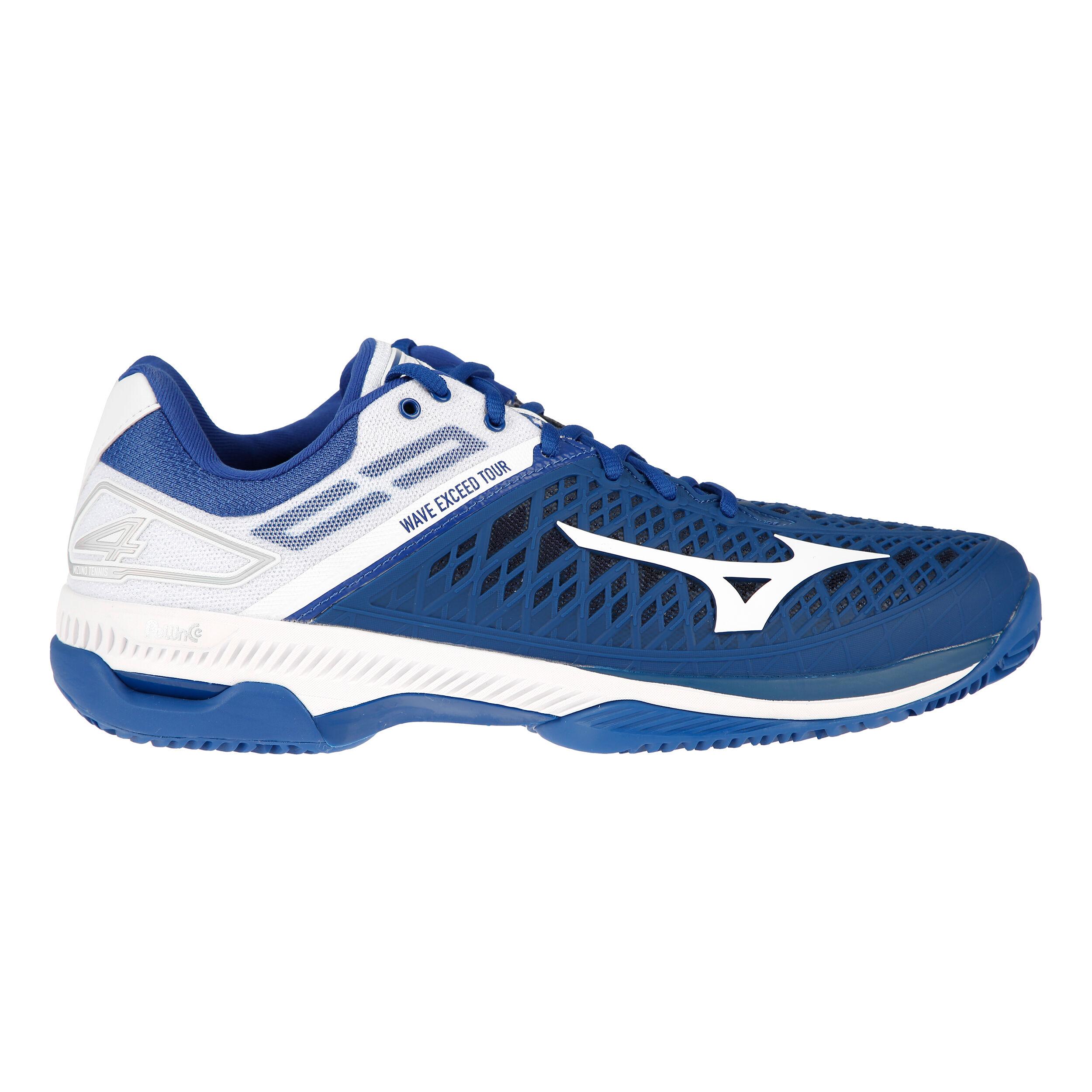 Mizuno Wave Exceed Tour 4 Clay Chaussure Terre Battue Hommes Bleu , Blanc