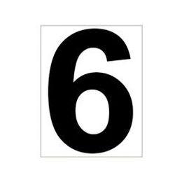 Schild Platzziffer 6