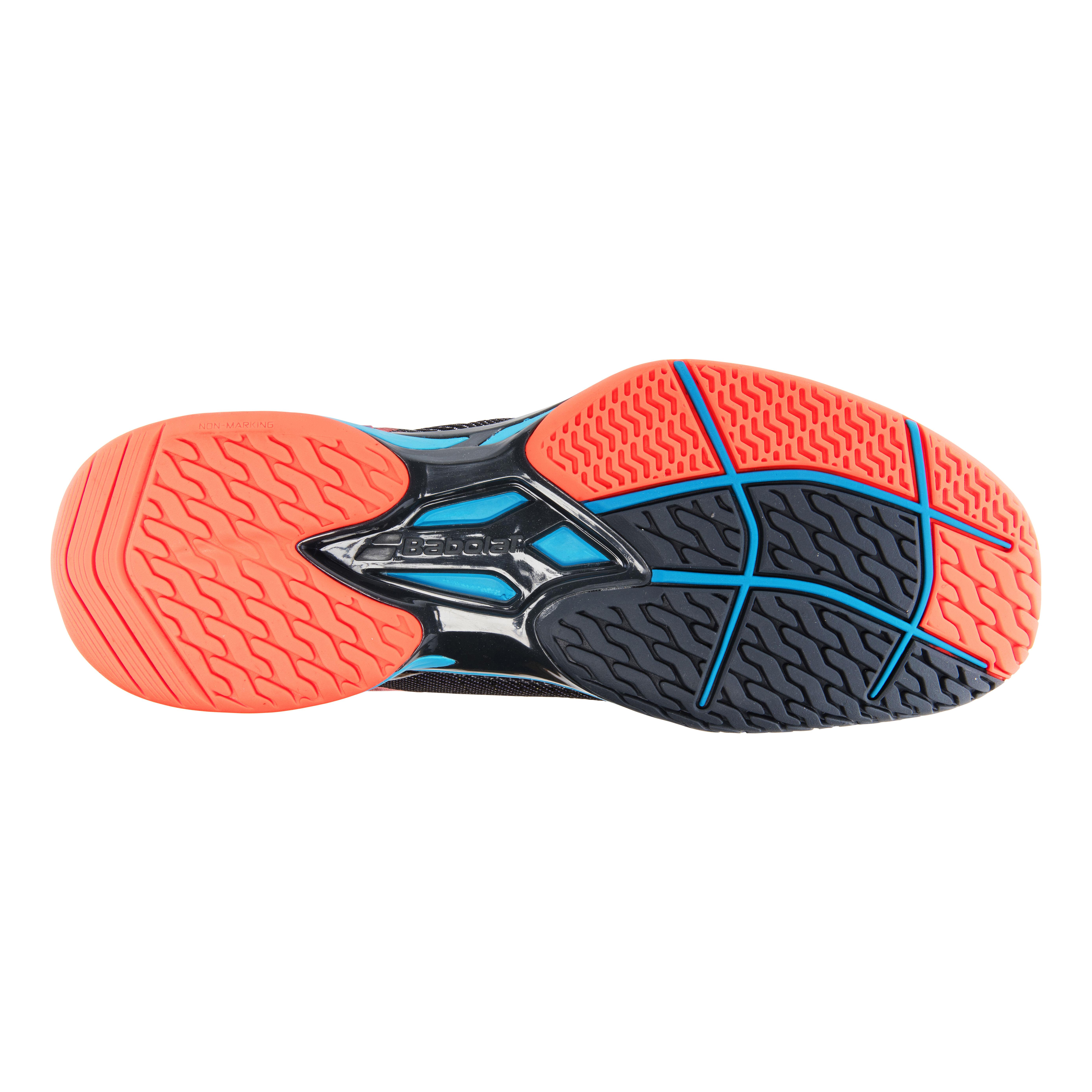 Orange 32 Babolat Enfants Jet All Court Junior Chaussures De Tennis Chaussure Tout Terrain Gris Fonc/é