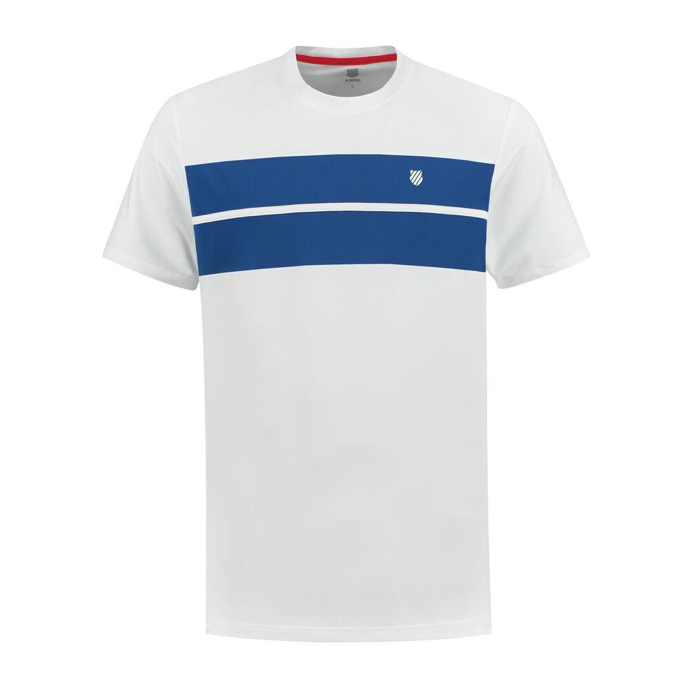 K-Swiss Hypercourt Crew T-shirt Hommes - Blanc , Bleu Foncé